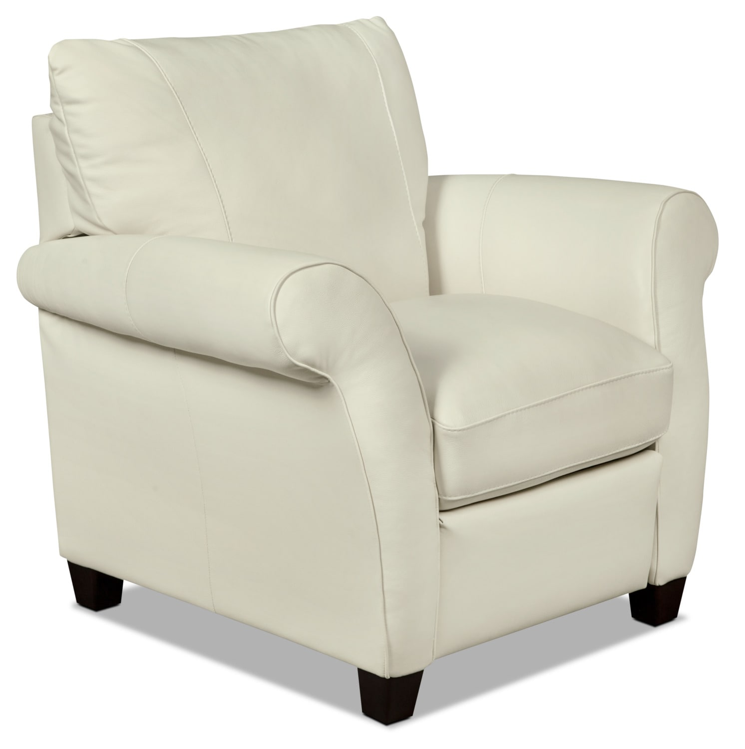 Living Room Furniture - Layla Genuine Leather Reclining Chair – Ivory