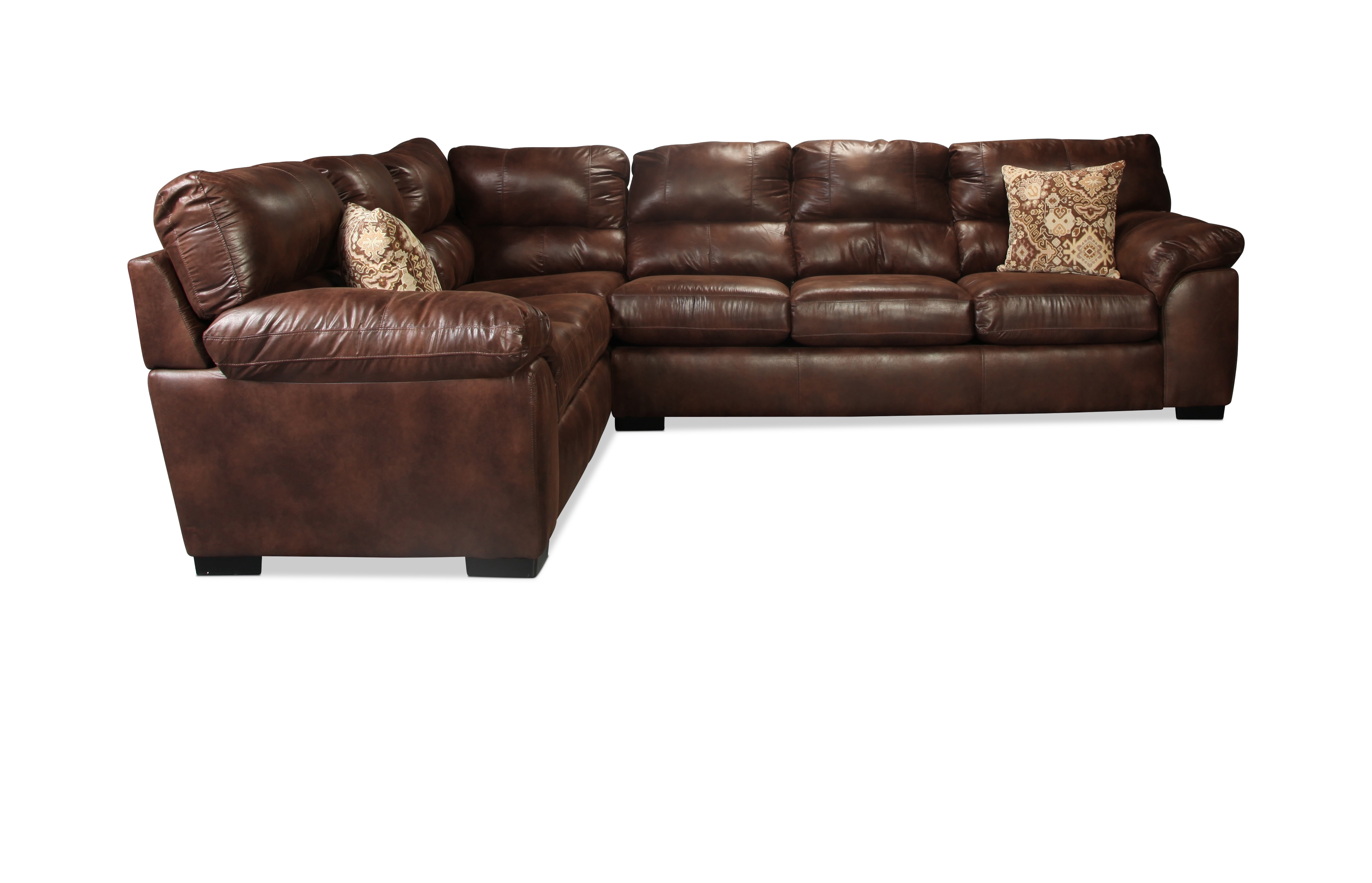 Provo 2-Piece Sectional - Chocolate