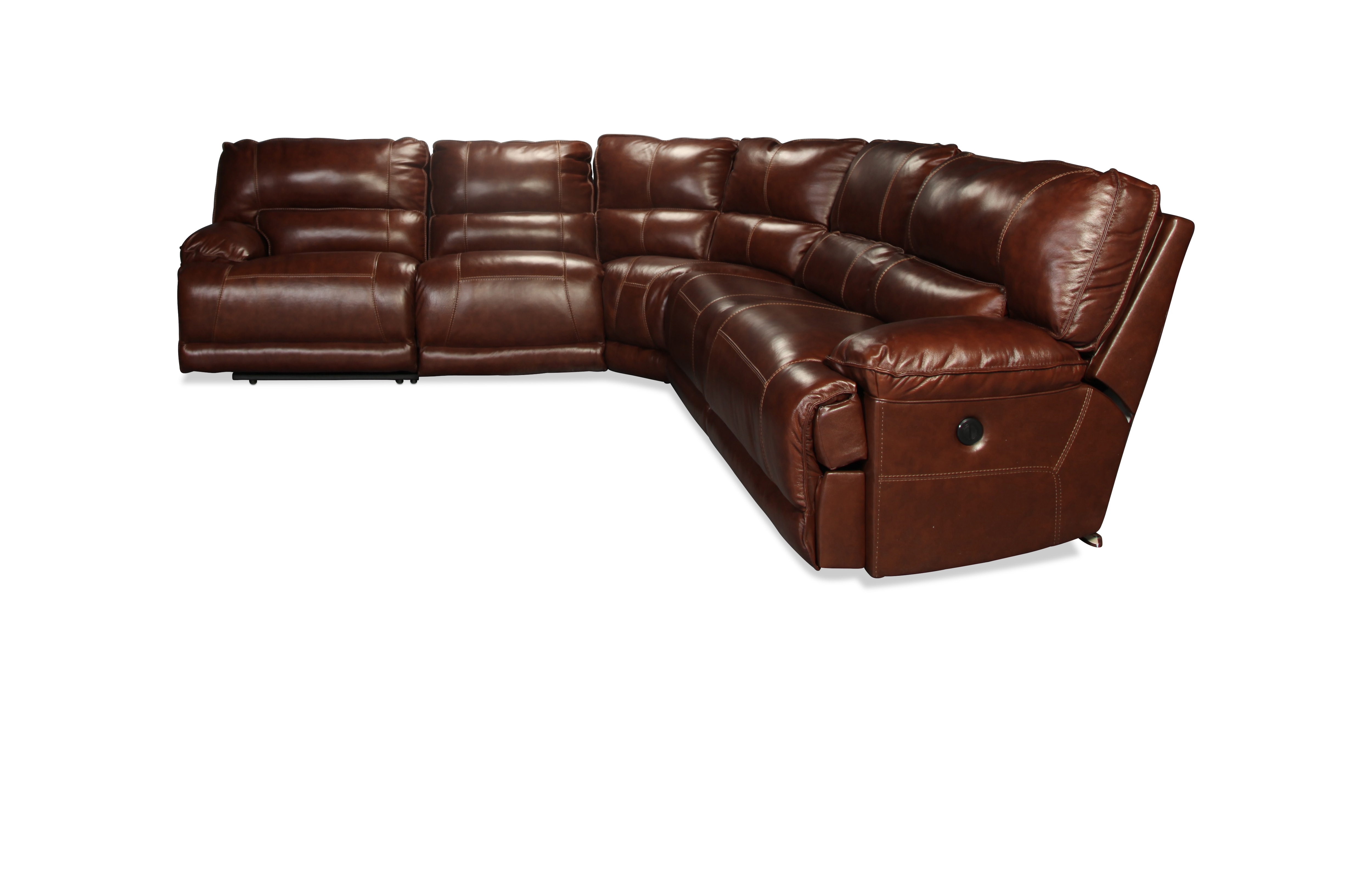Wolcott 5 Piece Power Sectional - Saddle