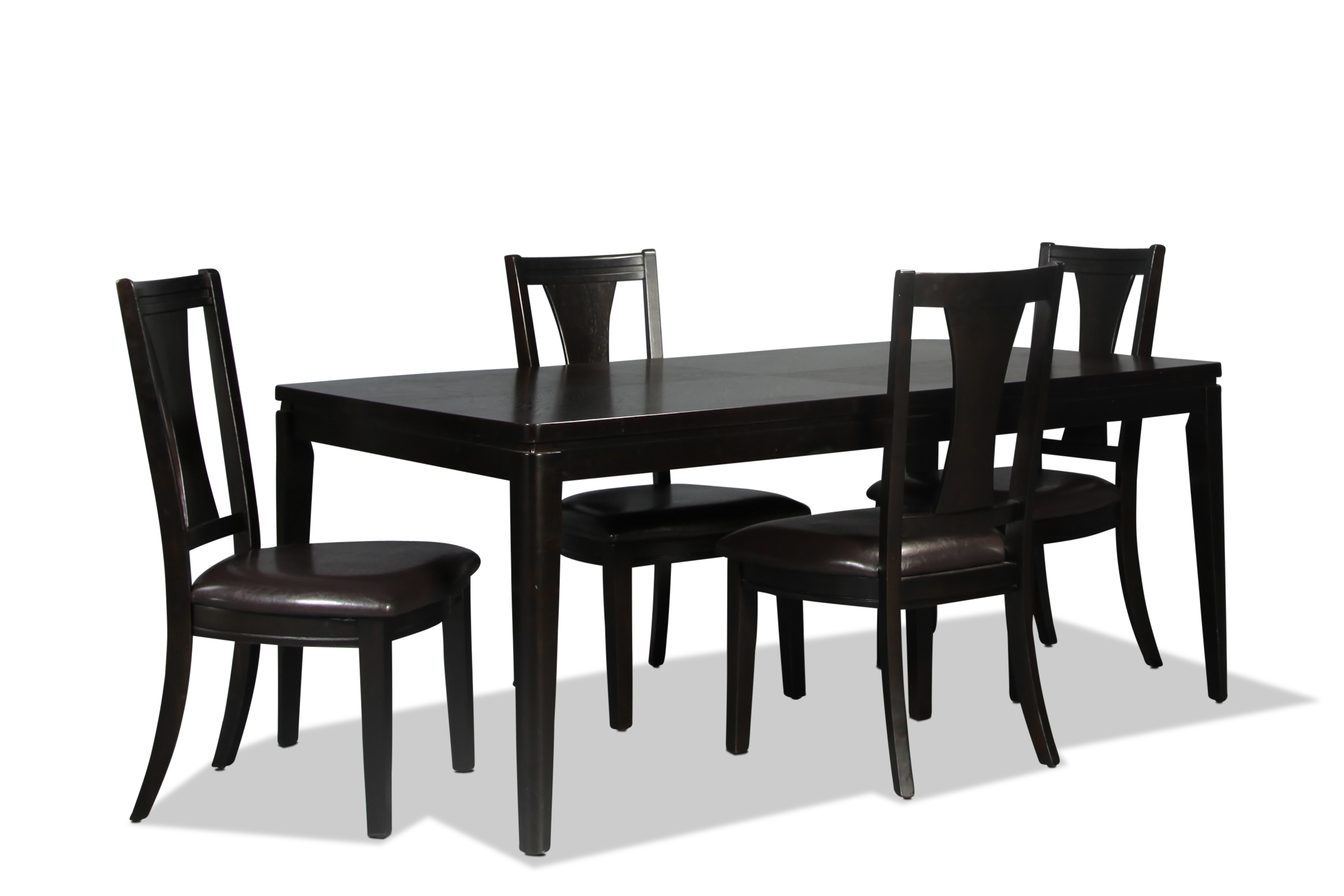 Grayson Table and 4 Side Chairs - Merlot