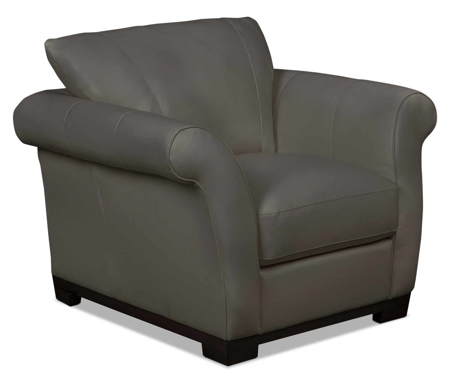 Living Room Furniture - Layla Genuine Leather Chair – Taupe