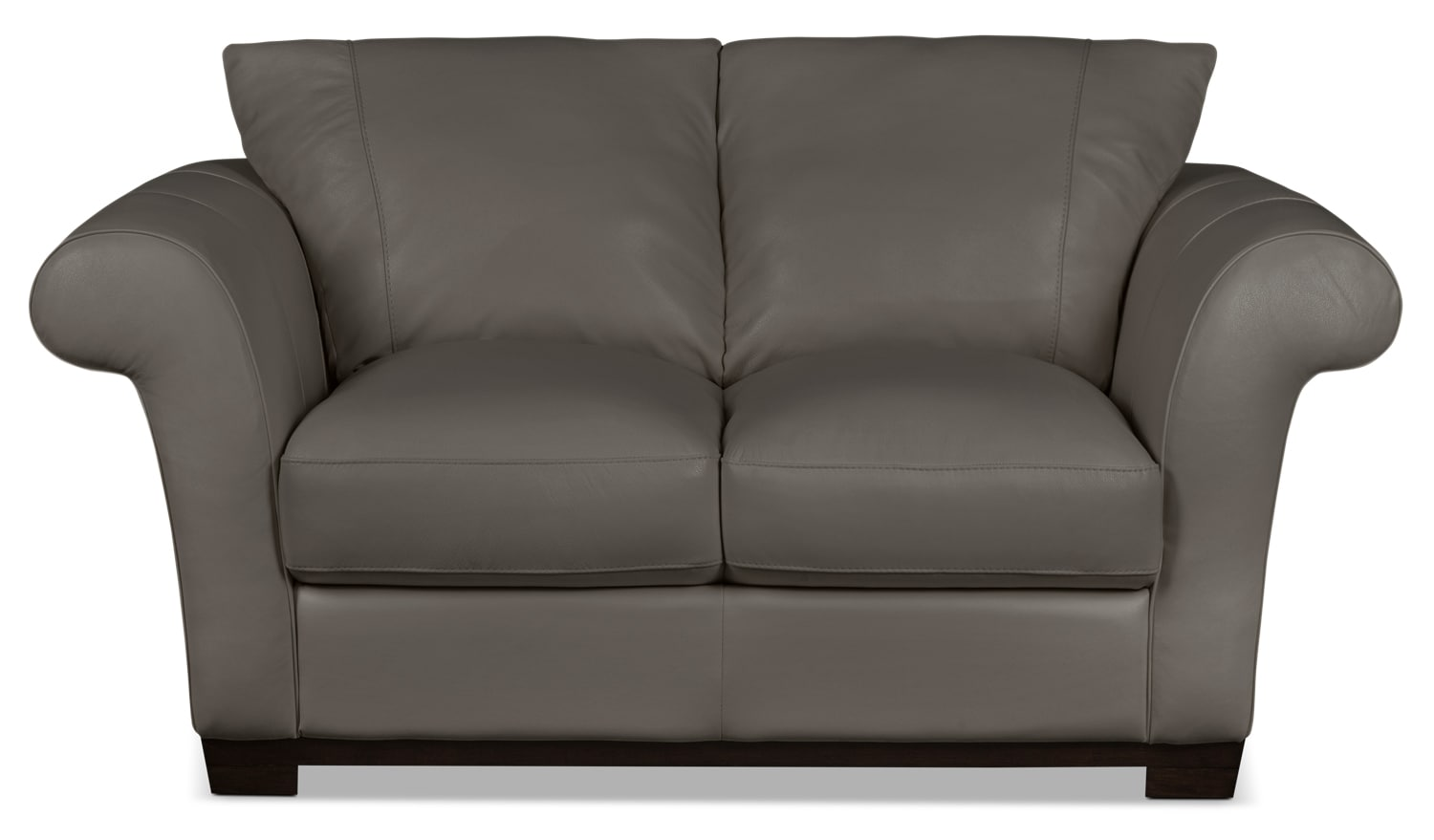 Layla Genuine Leather Loveseat – Taupe