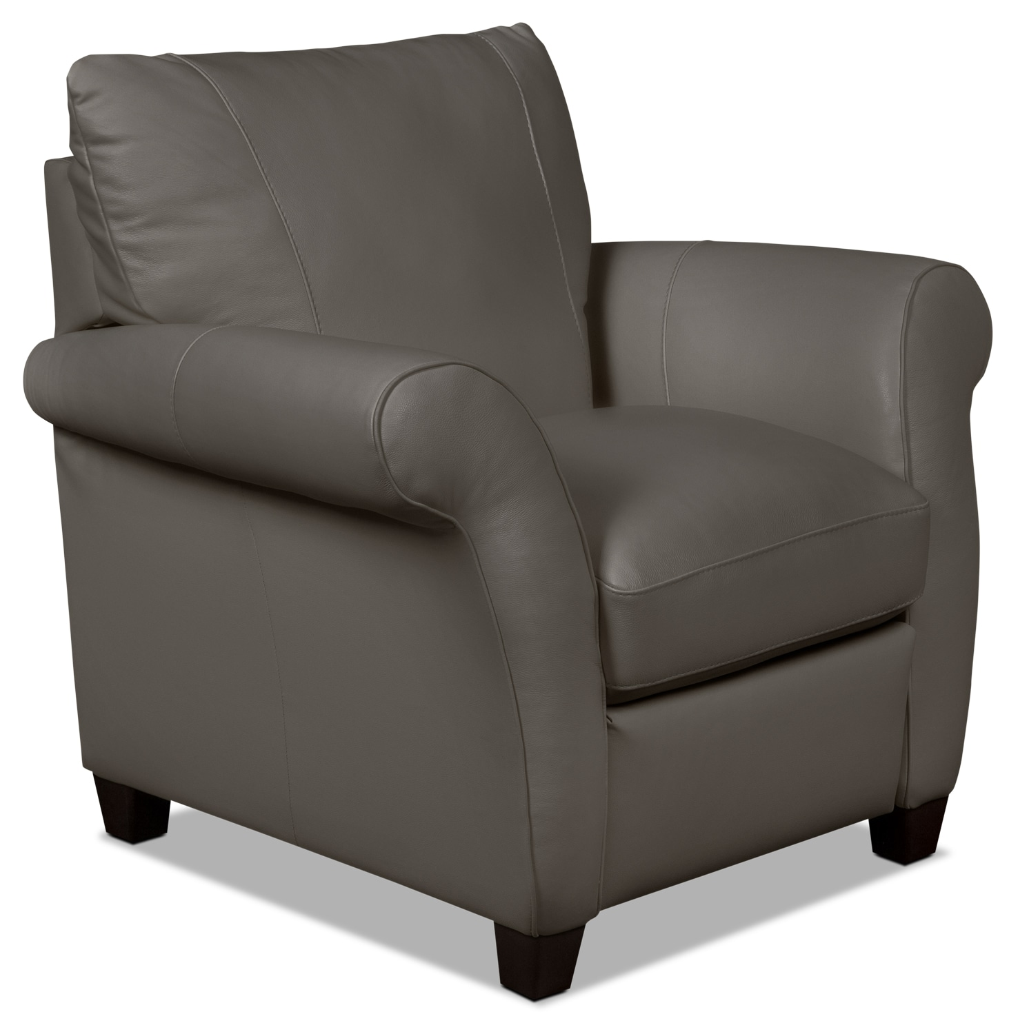 Layla Genuine Leather Reclining Chair – Taupe