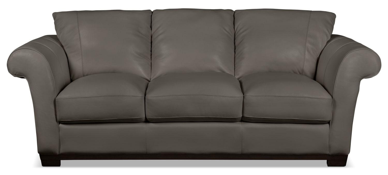 Living Room Furniture - Layla Genuine Leather Sofa – Taupe