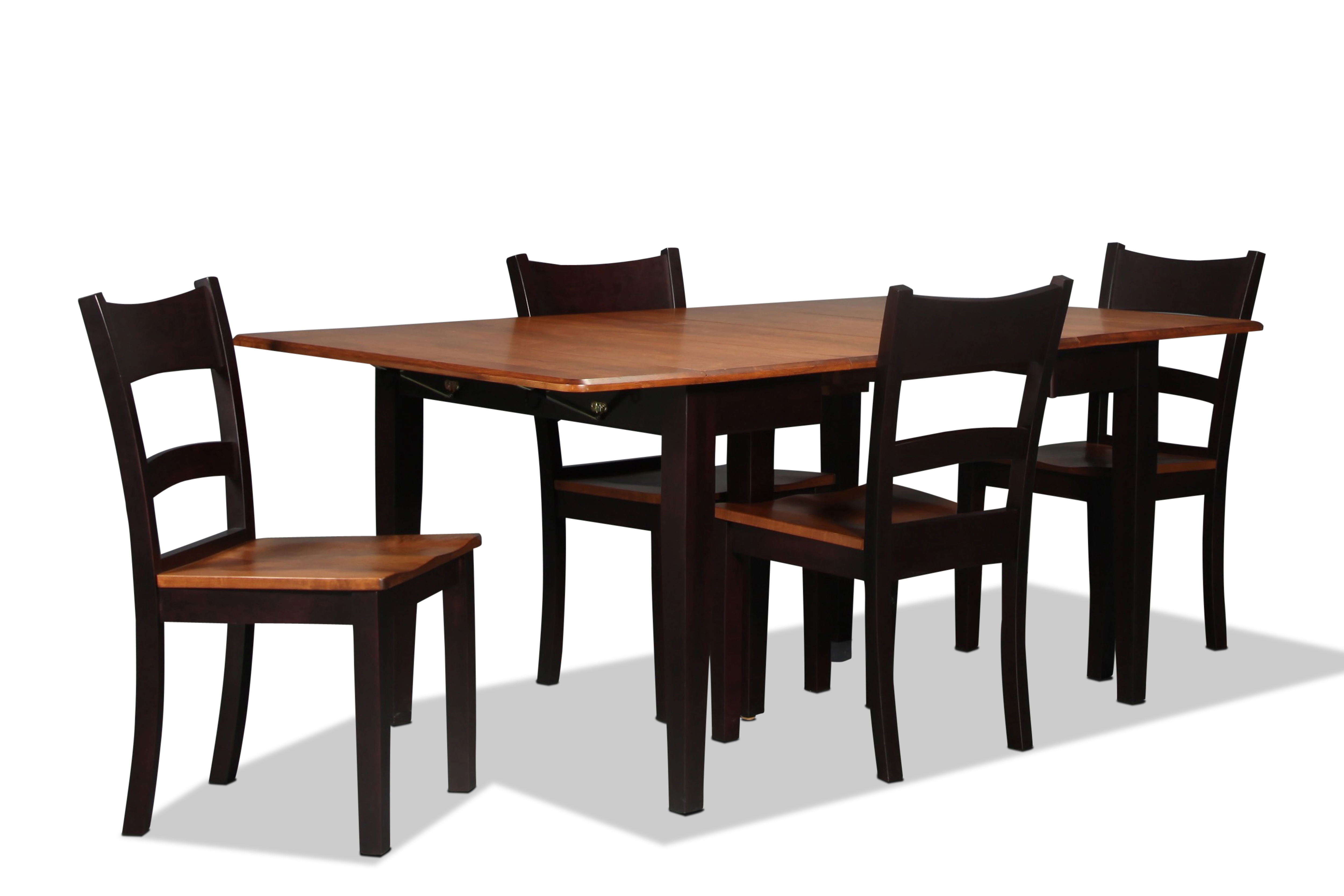 Saber Dining Table and 4 Side Chairs