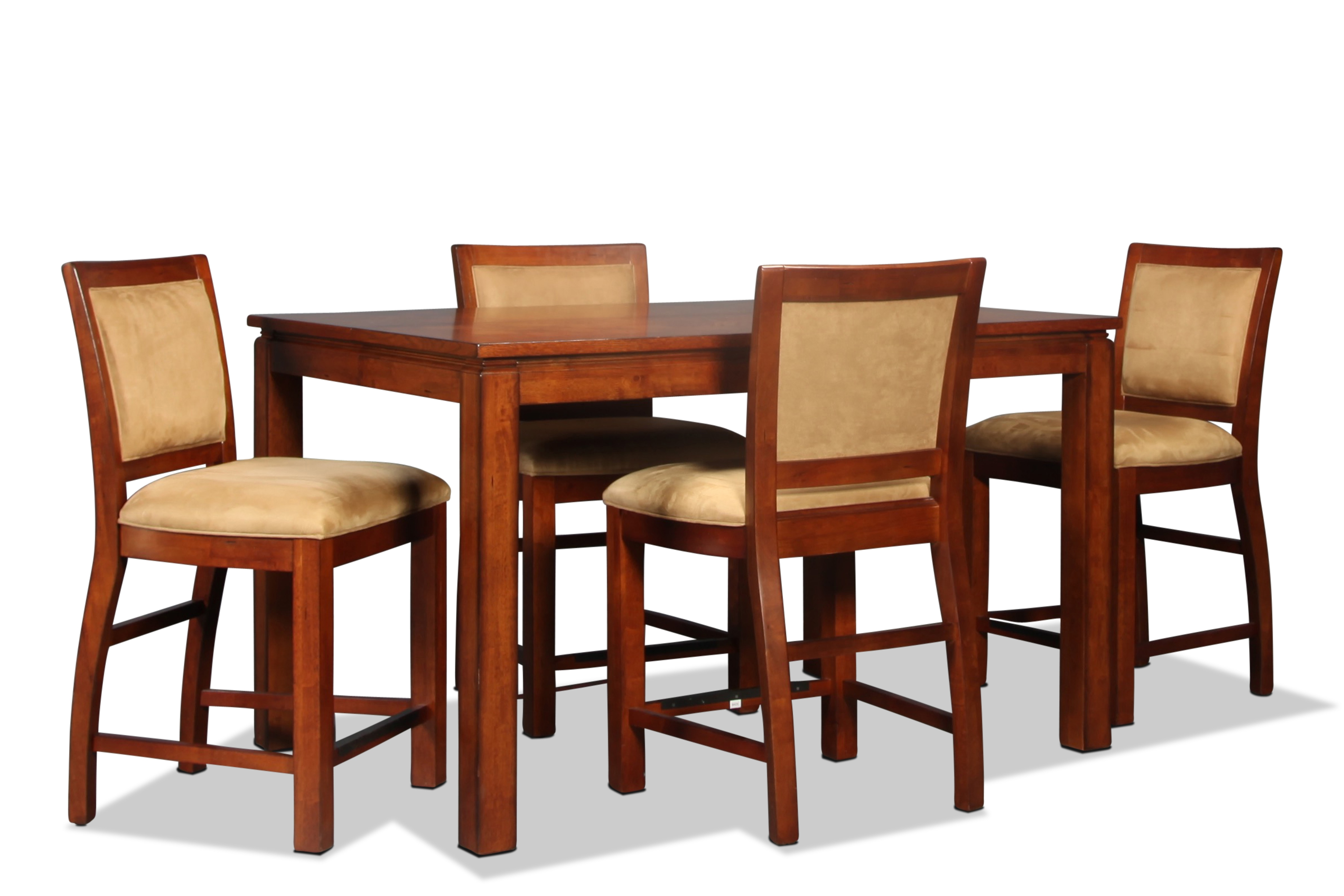 Woodbridge Pub Table and 4 Pub Chairs - Mocha