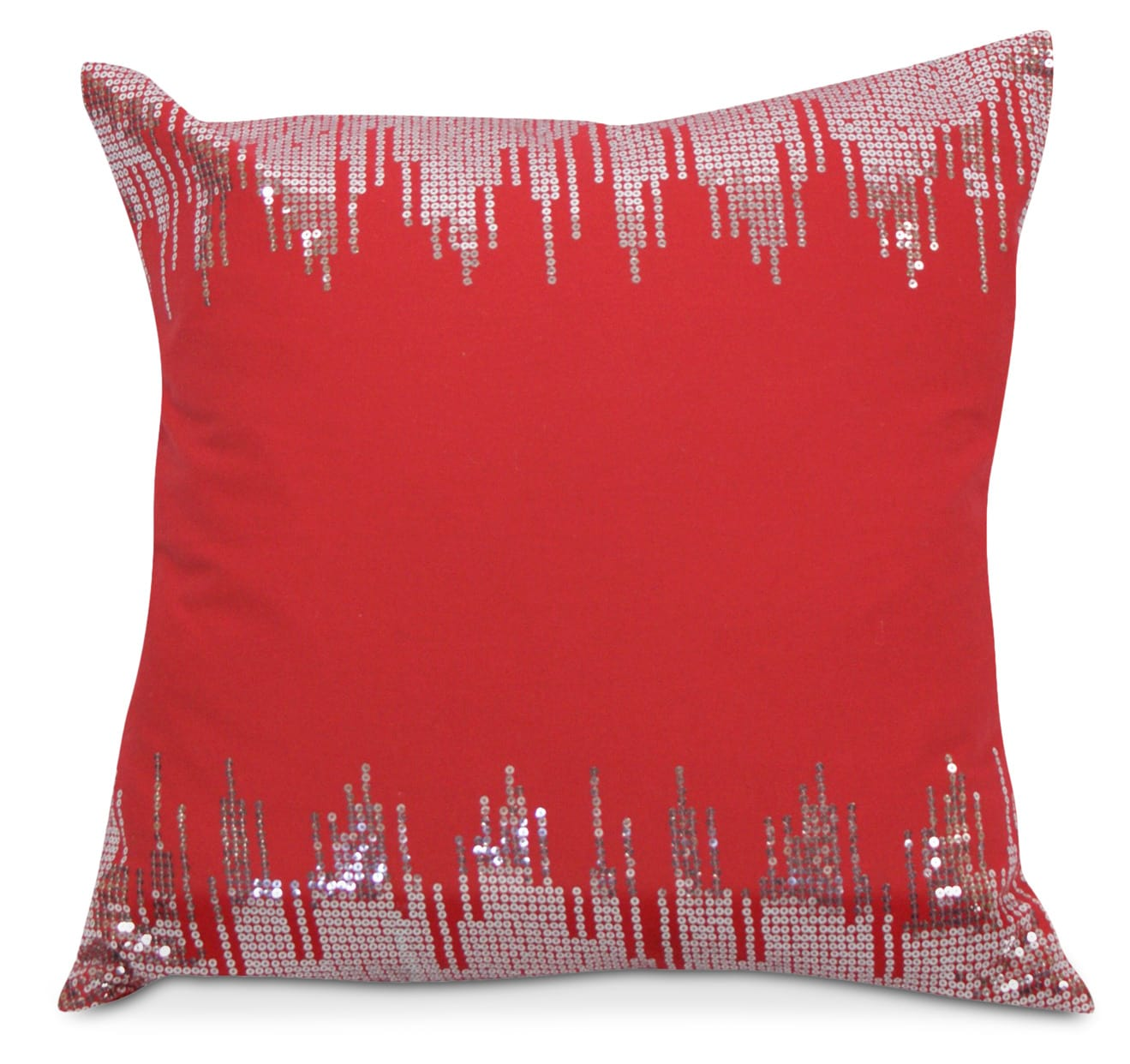 Glam Accent Pillow - Red