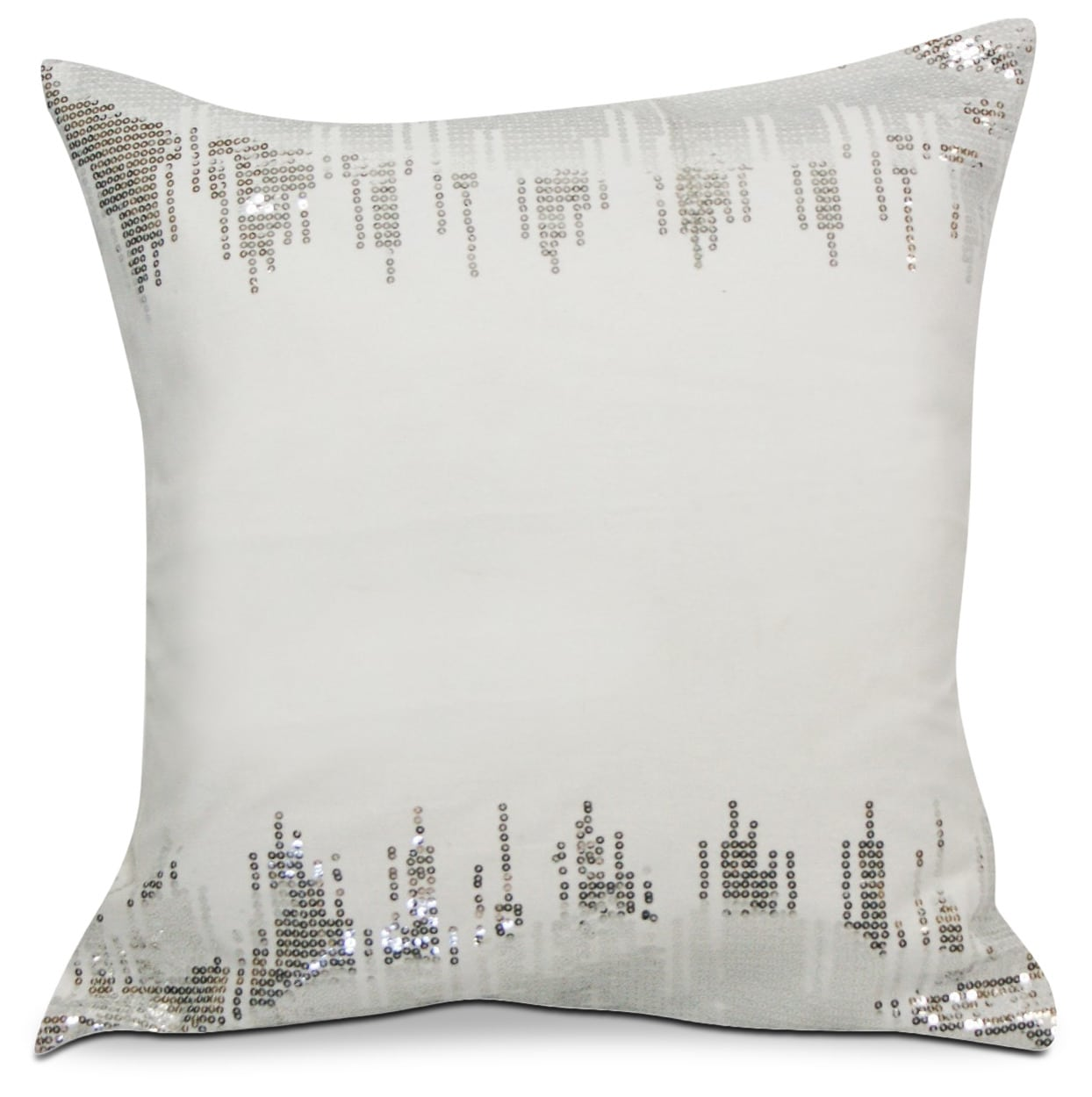 Glam Accent Pillow - White