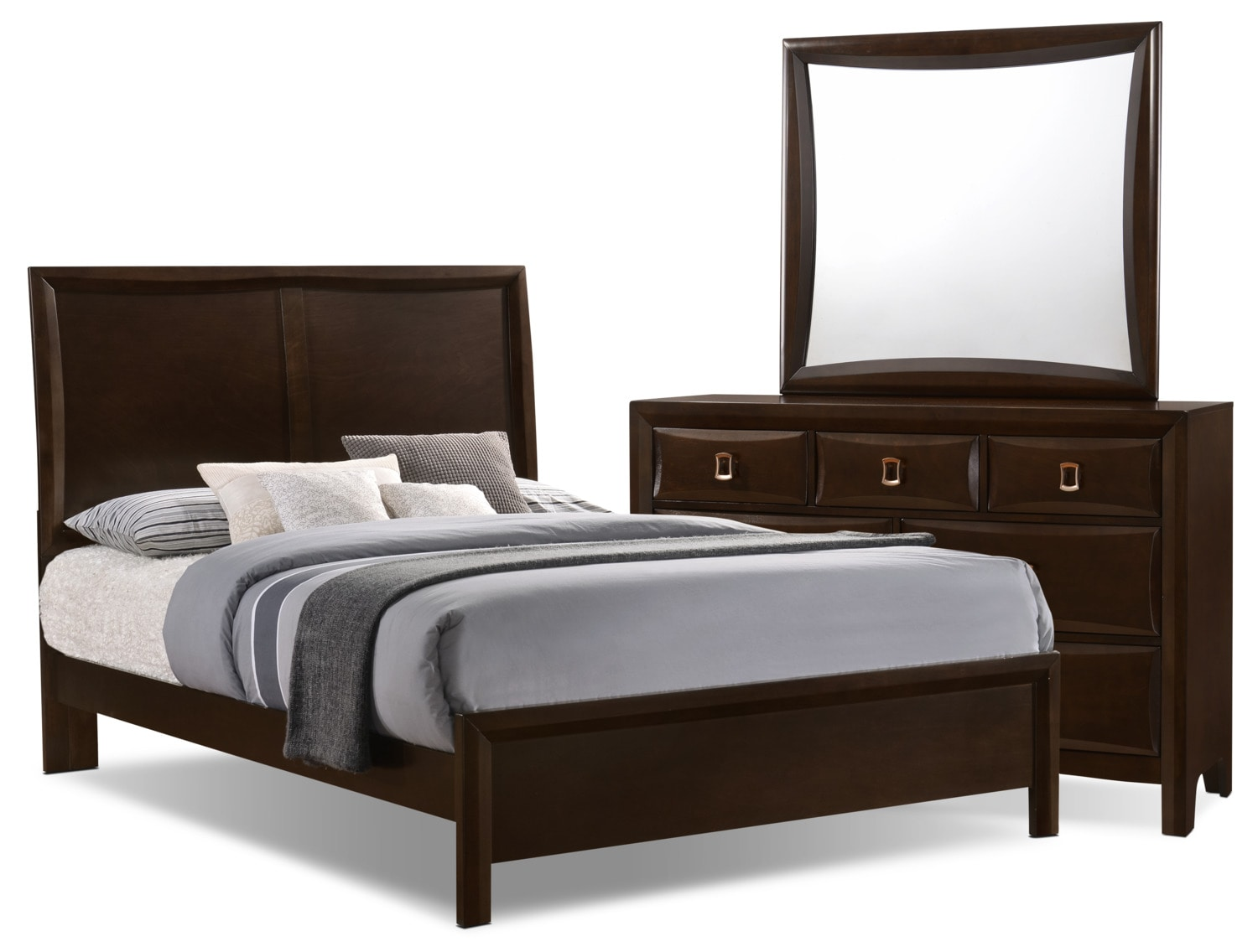 bella 5 piece queen panel bedroom collection the brick