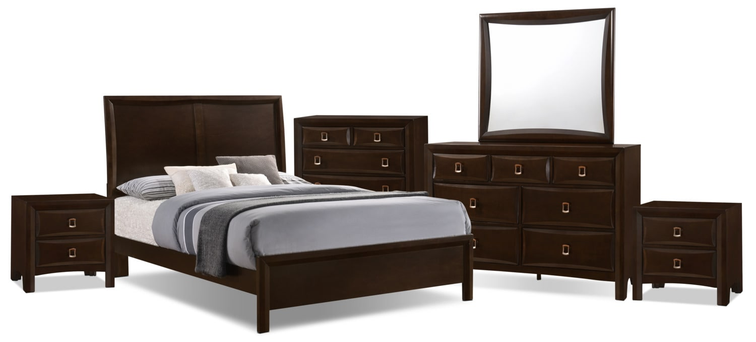 Bedroom Furniture - Bella 8-Piece King Panel Bedroom Collection