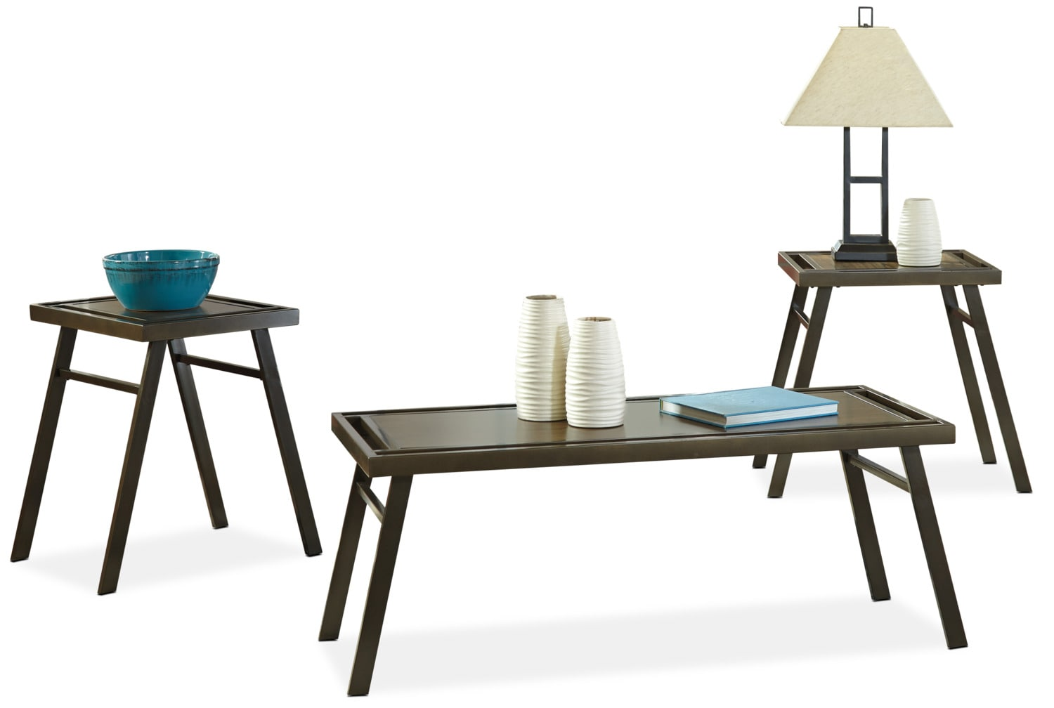 Farna 3-Piece Coffee and Two End Tables Package