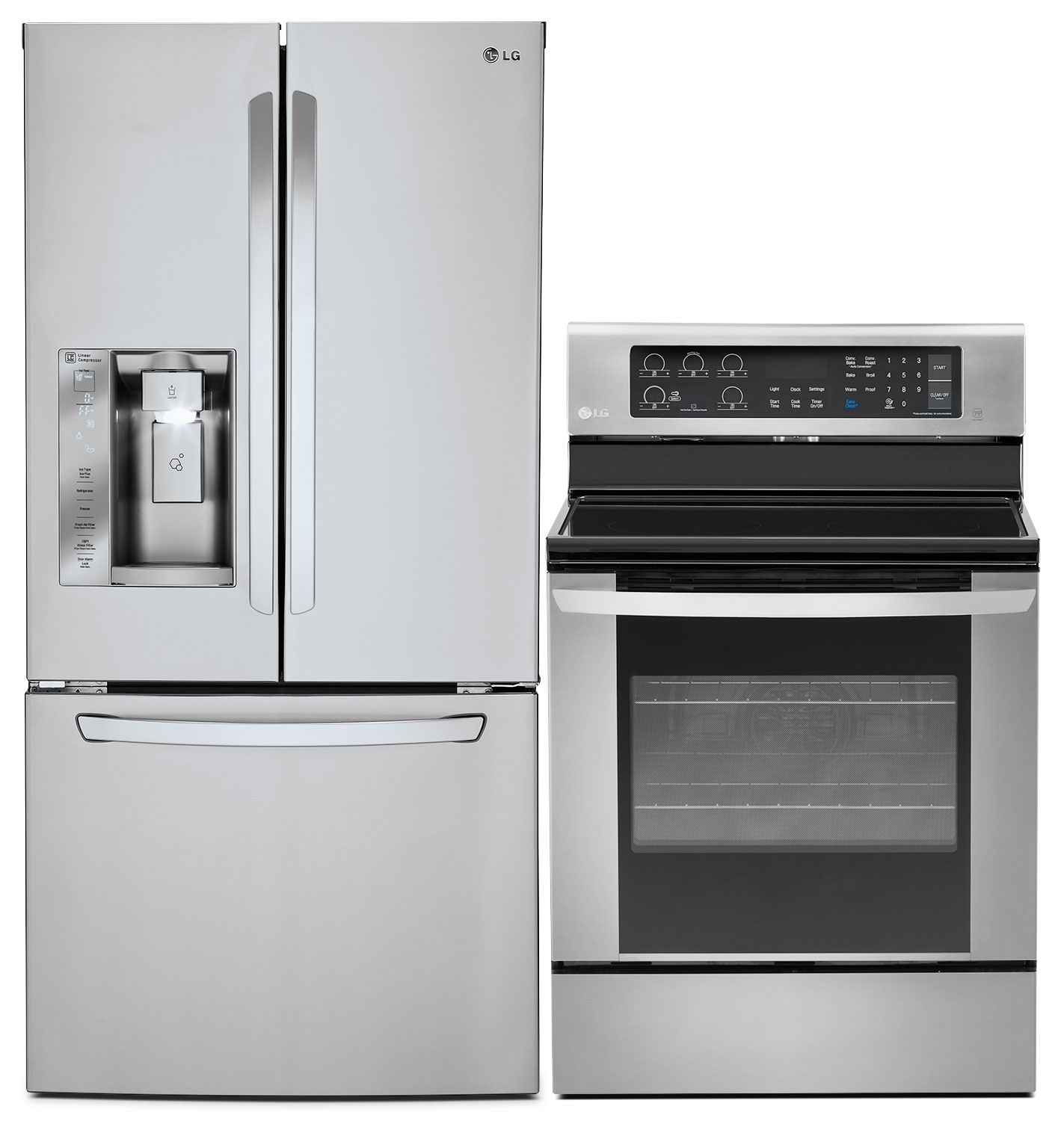 LG 24.2 Cu. Ft. French-Door Refrigerator and 6.3 Cu. Ft. Electric Convection Range