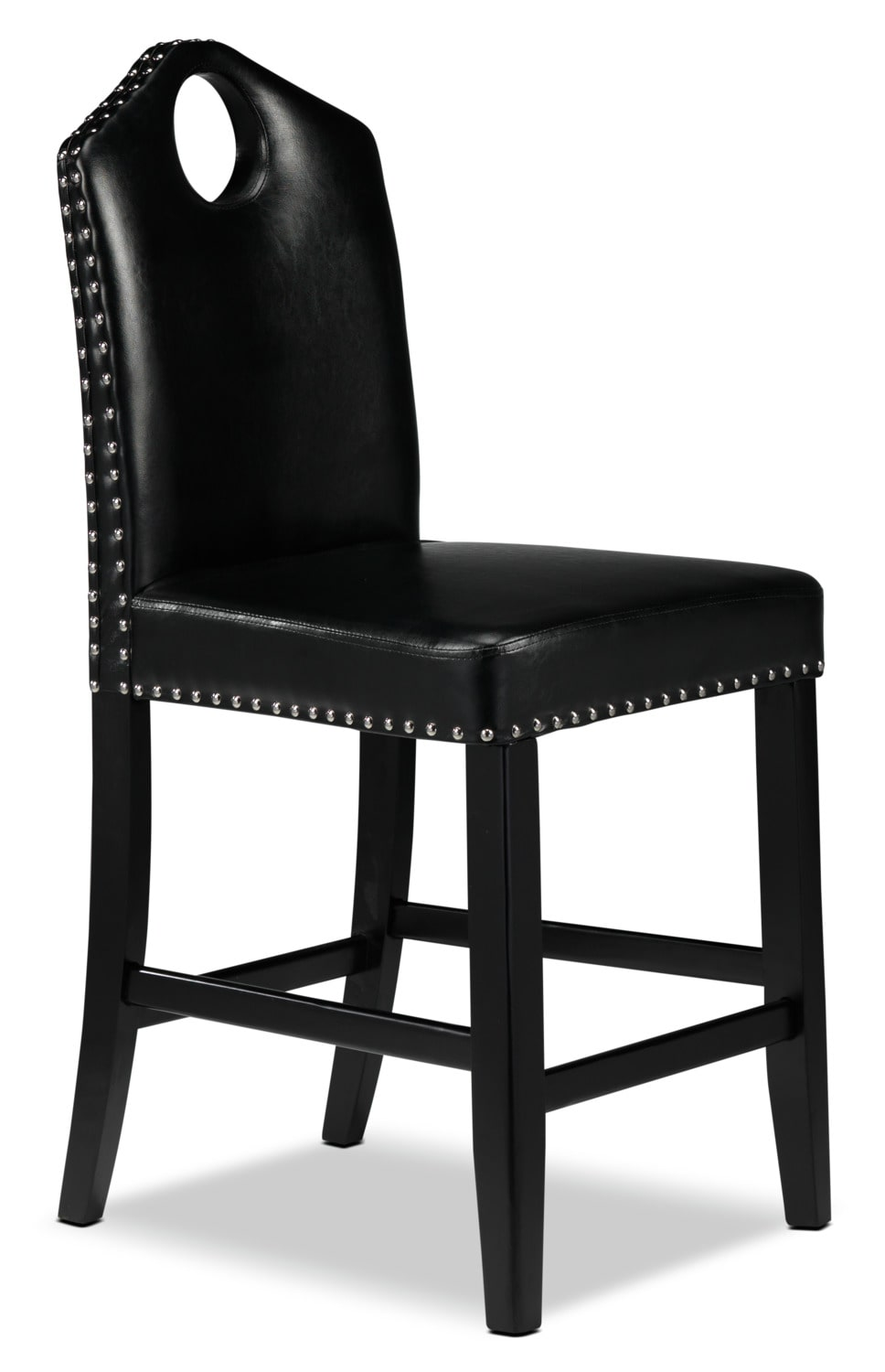 Hammett chaise bistrot noir meubles l on for Chaise bistrot noire