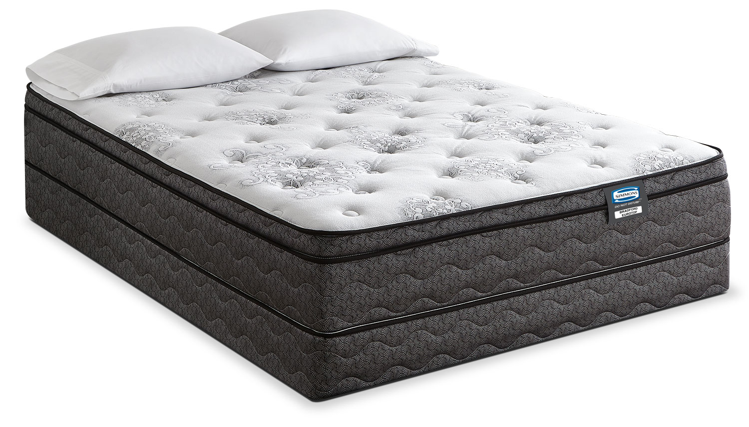 Simmons Do Not Disturb Bradford Euro Top Firm King Mattress Set The Brick