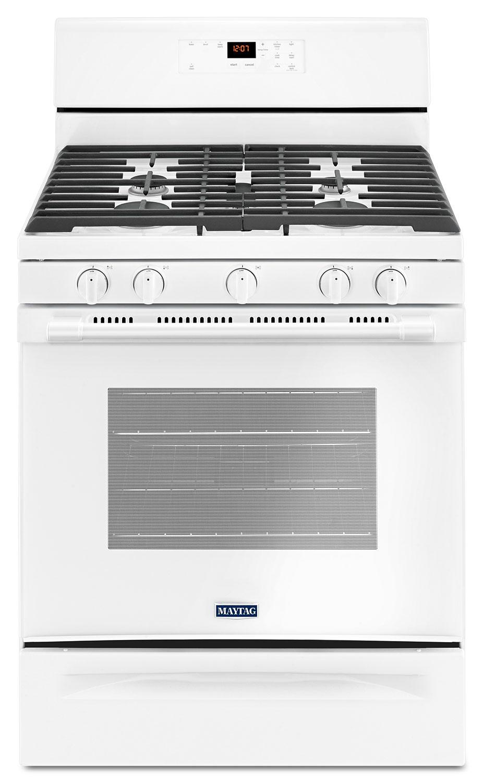 Cuisinières - Cuisinière à gaz amovible Maytag de 5,0 pi3 avec brûleur ovale – MGR6600FW