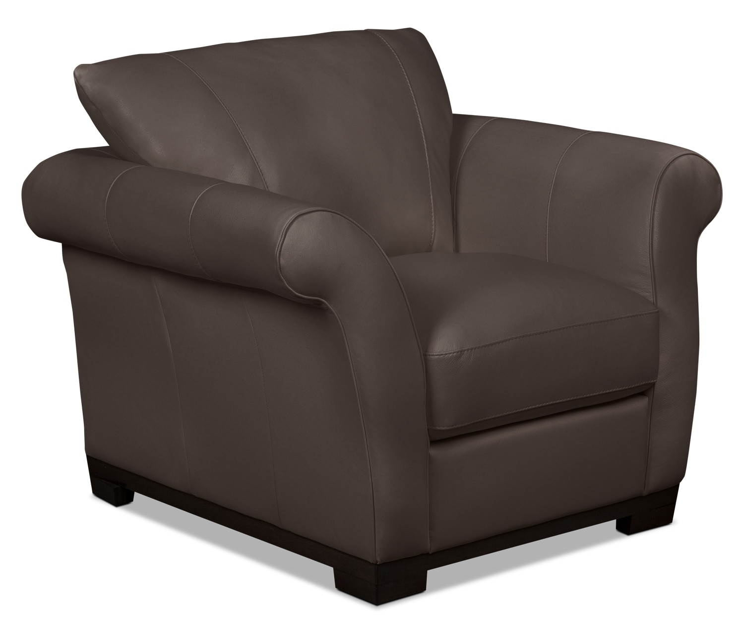 Layla Genuine Leather Chair – Brown