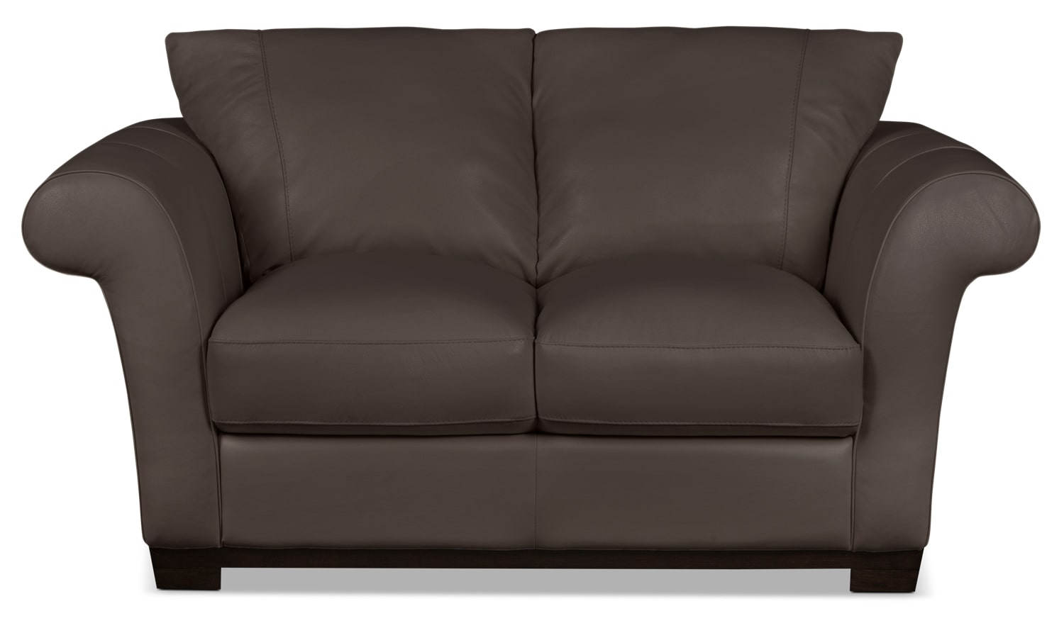 Living Room Furniture - Layla Genuine Leather Loveseat – Brown