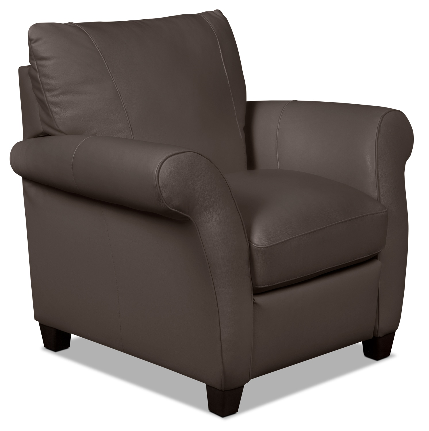 Layla Genuine Leather Reclining Chair – Brown