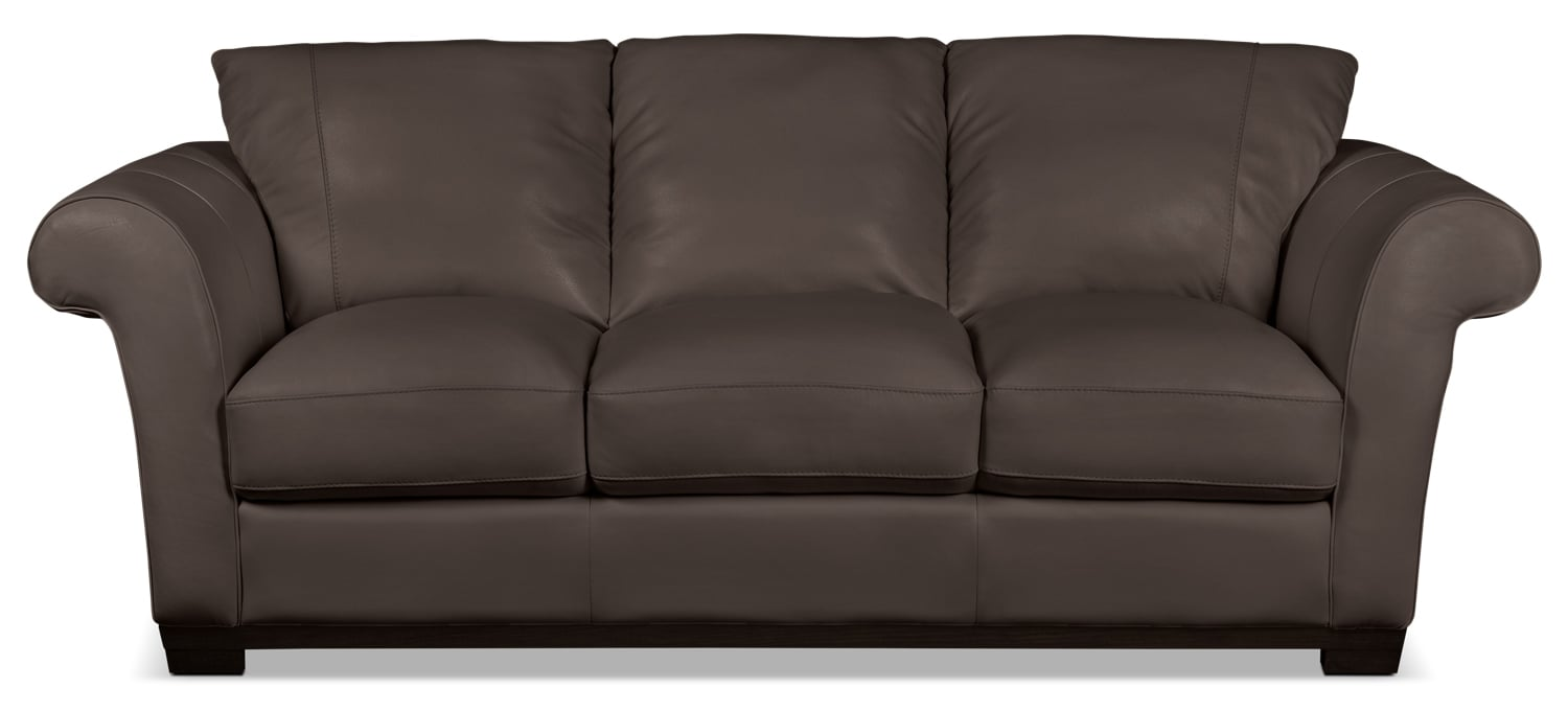 Layla Genuine Leather Sofa – Brown