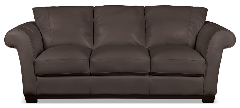 Layla Genuine Leather Sofa – Brown