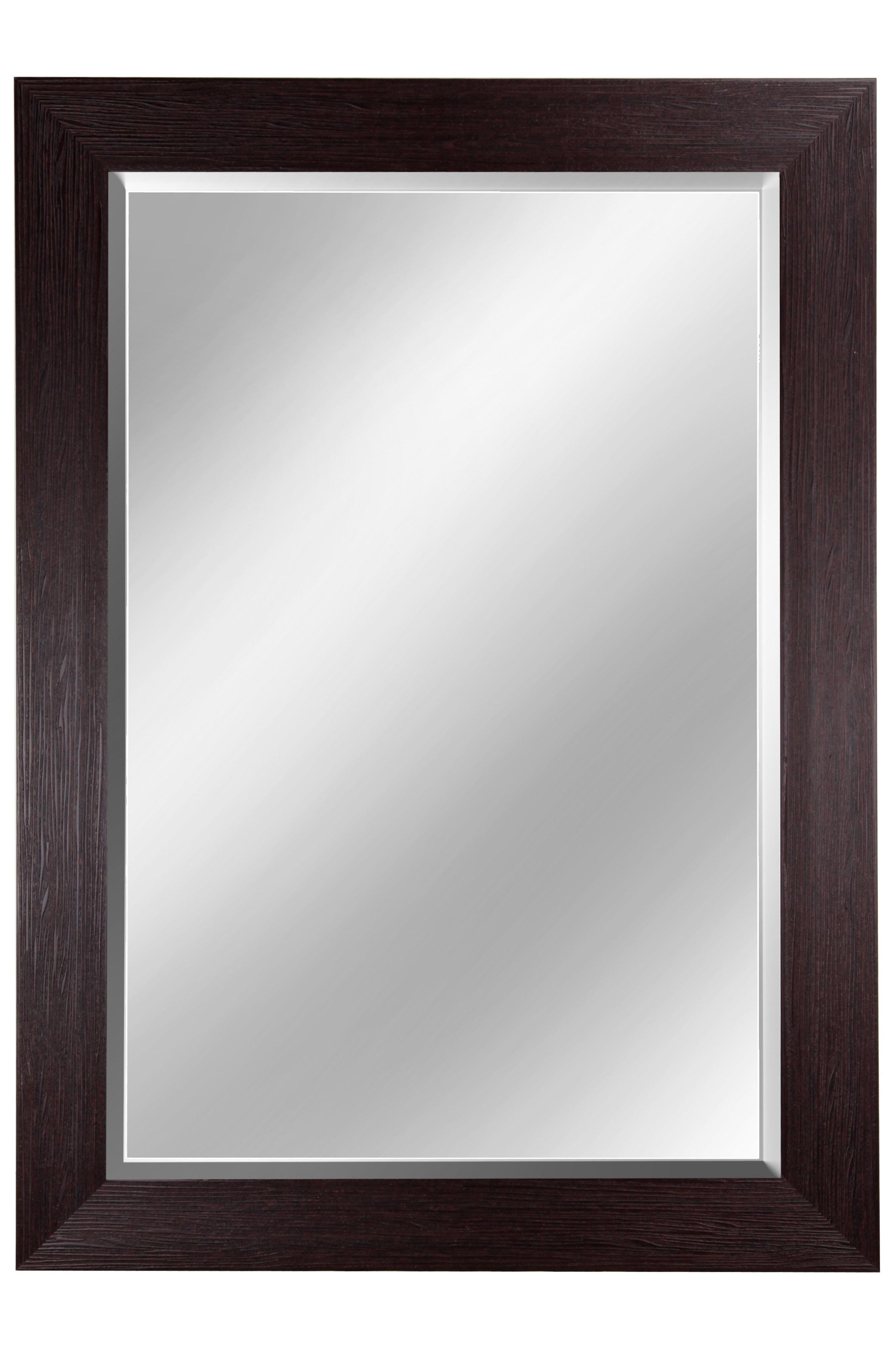 """46"""" Beveled Mirror - Mahogany"""