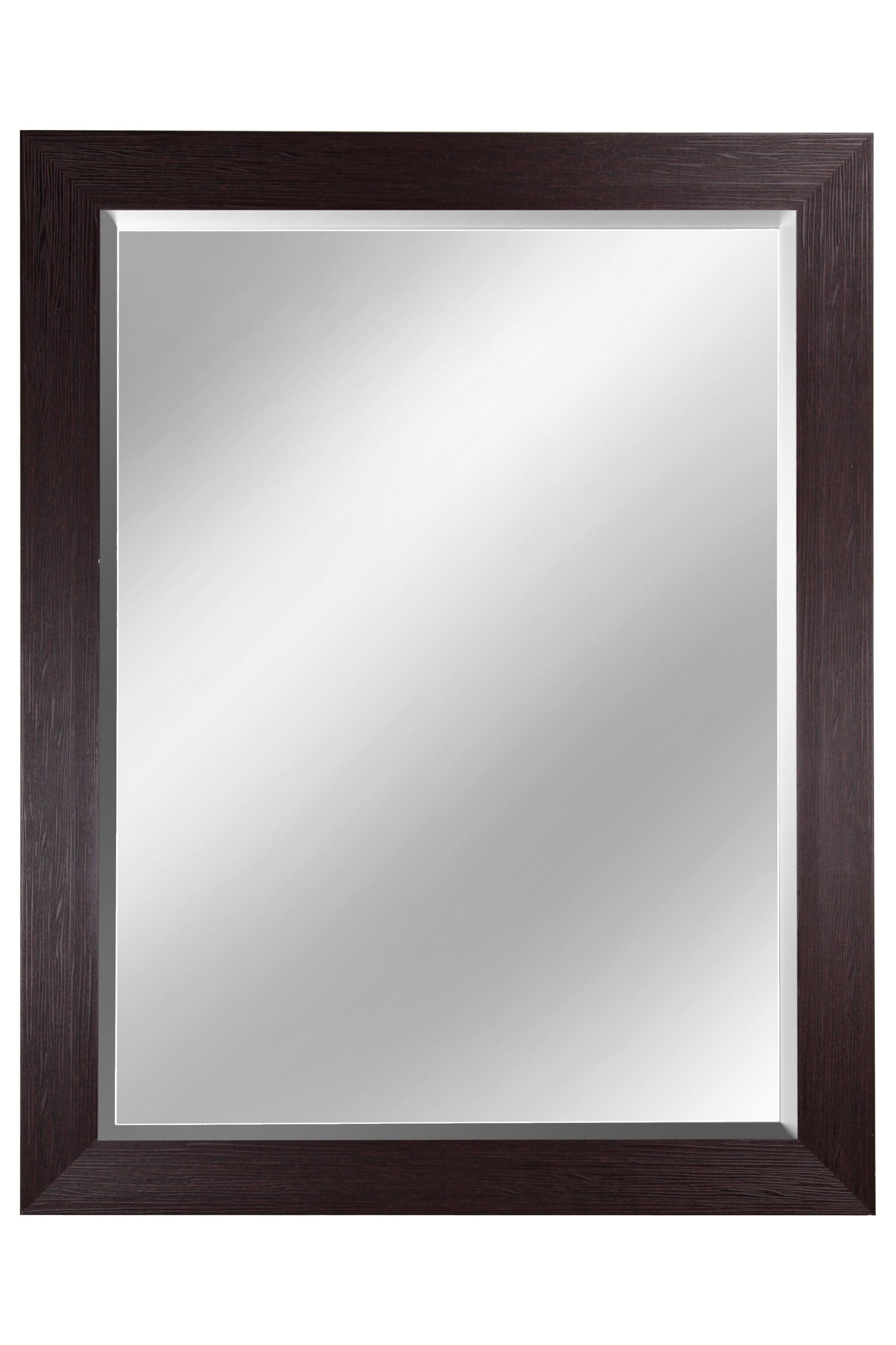 """42"""" Beveled Mirror - Mahogany"""