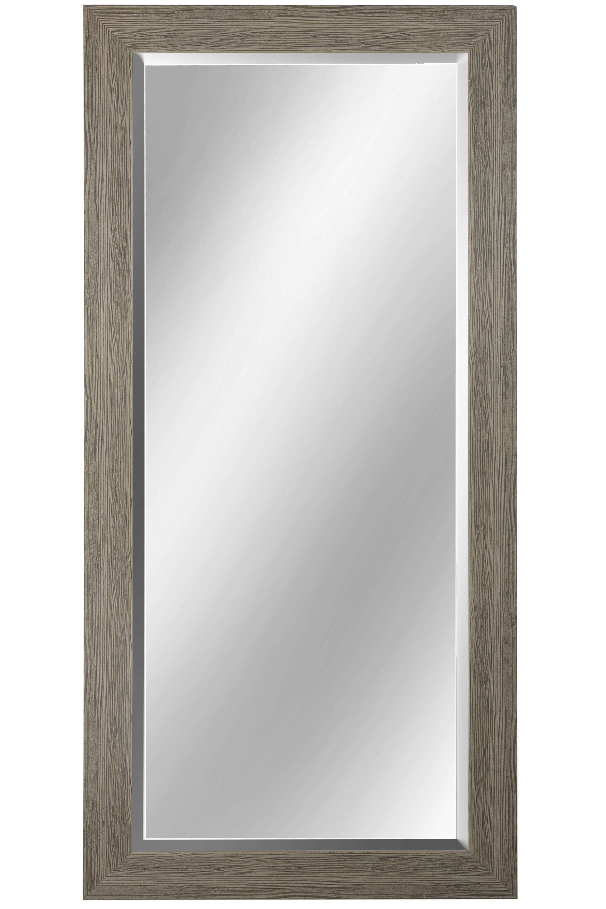 "64"" Beveled Mirror - Weathered Gray"