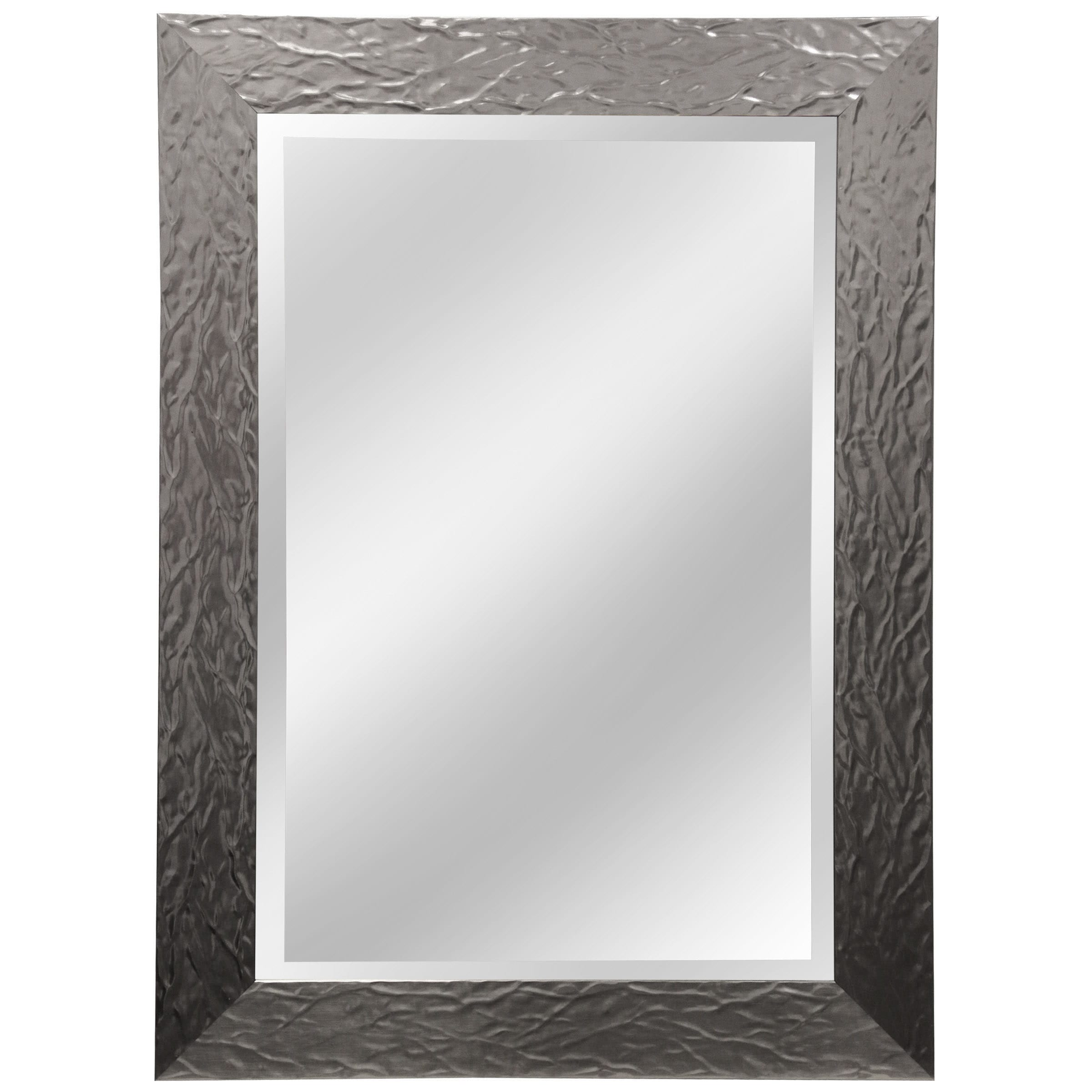 "43"" Beveled Mirror - Aged Nickel"