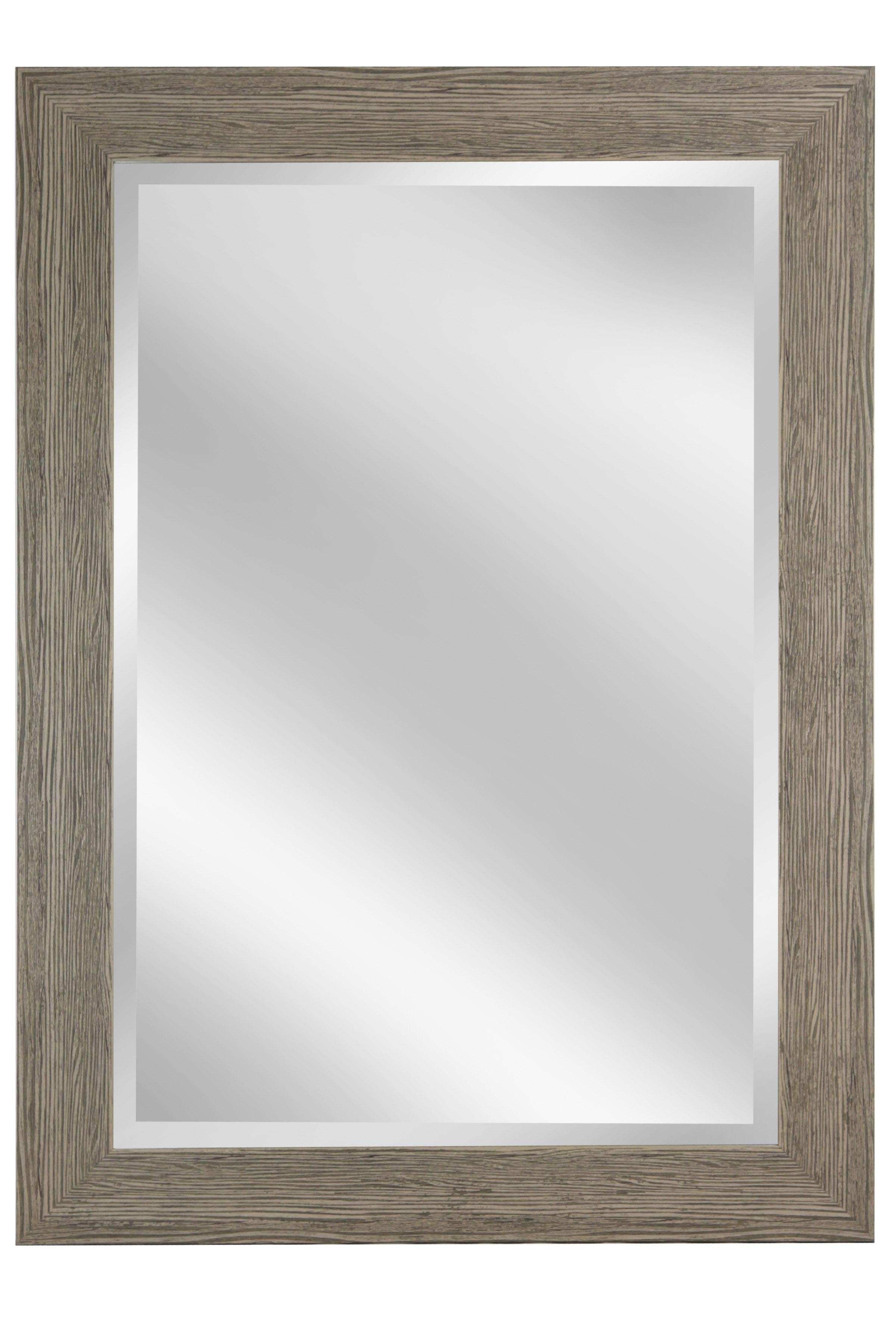 "46"" Beveled Mirror - Weathered Gray"