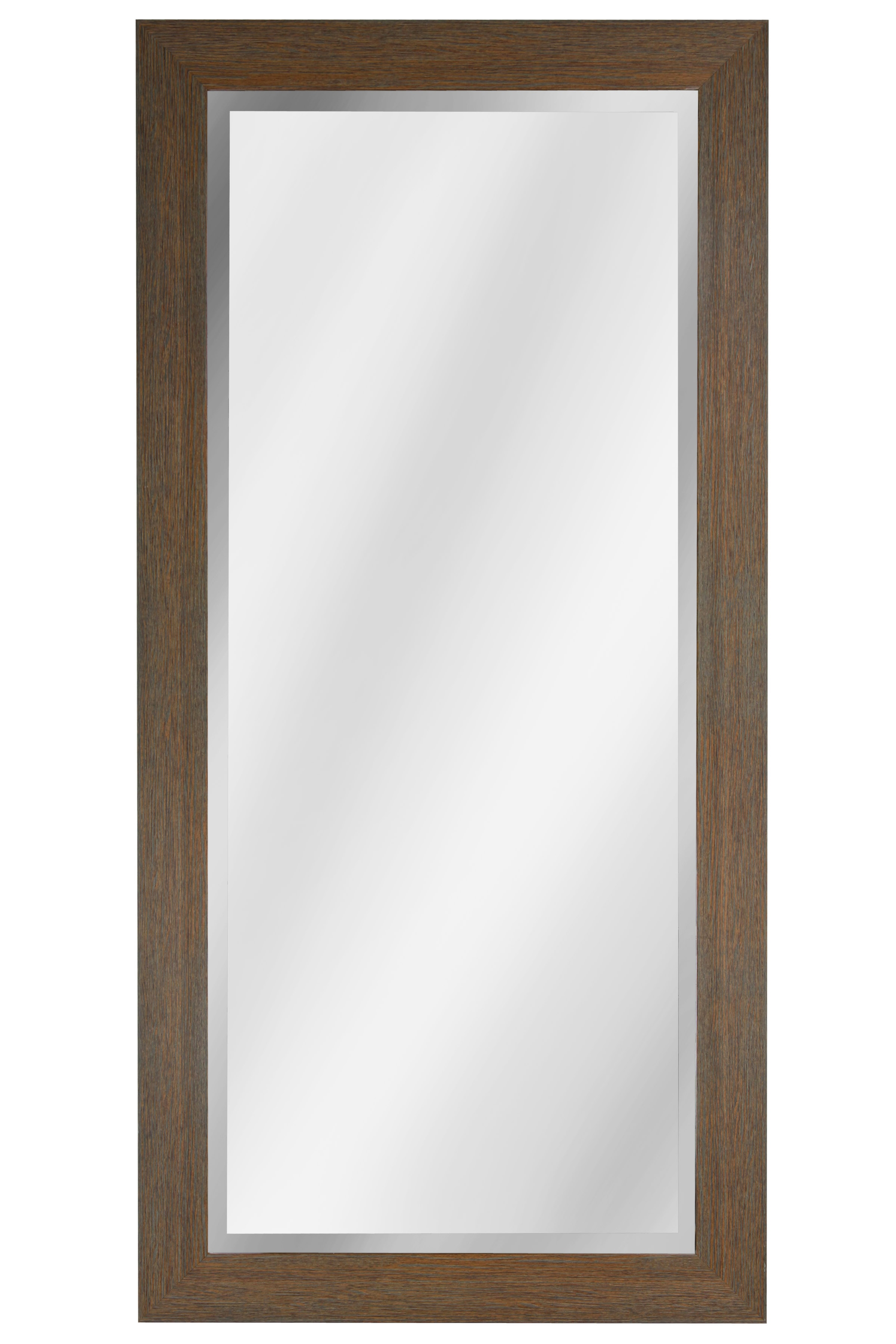 "64"" Beveled Mirror - Walnut"