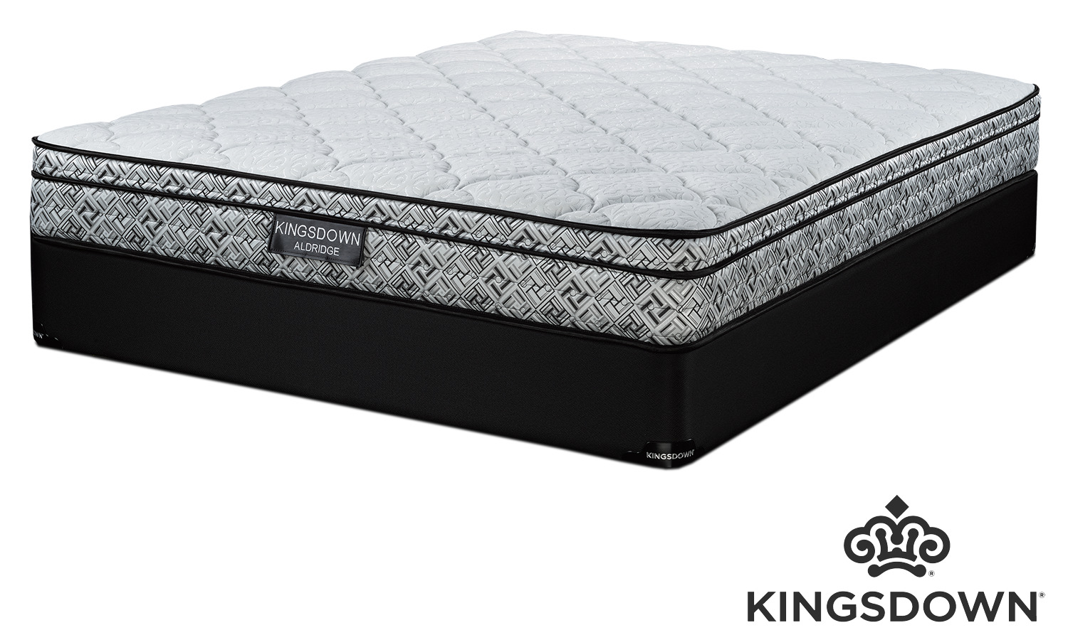 Kingsdown Aldridge Cushion Firm Queen Mattress and Boxspring Set