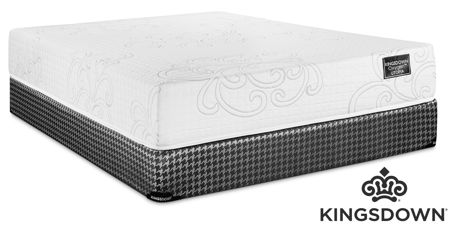 Kingsdown Utopia Hybrid Cushion Firm Full Mattress and Boxspring Set