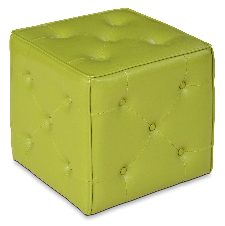 Talbott Ottoman – Green