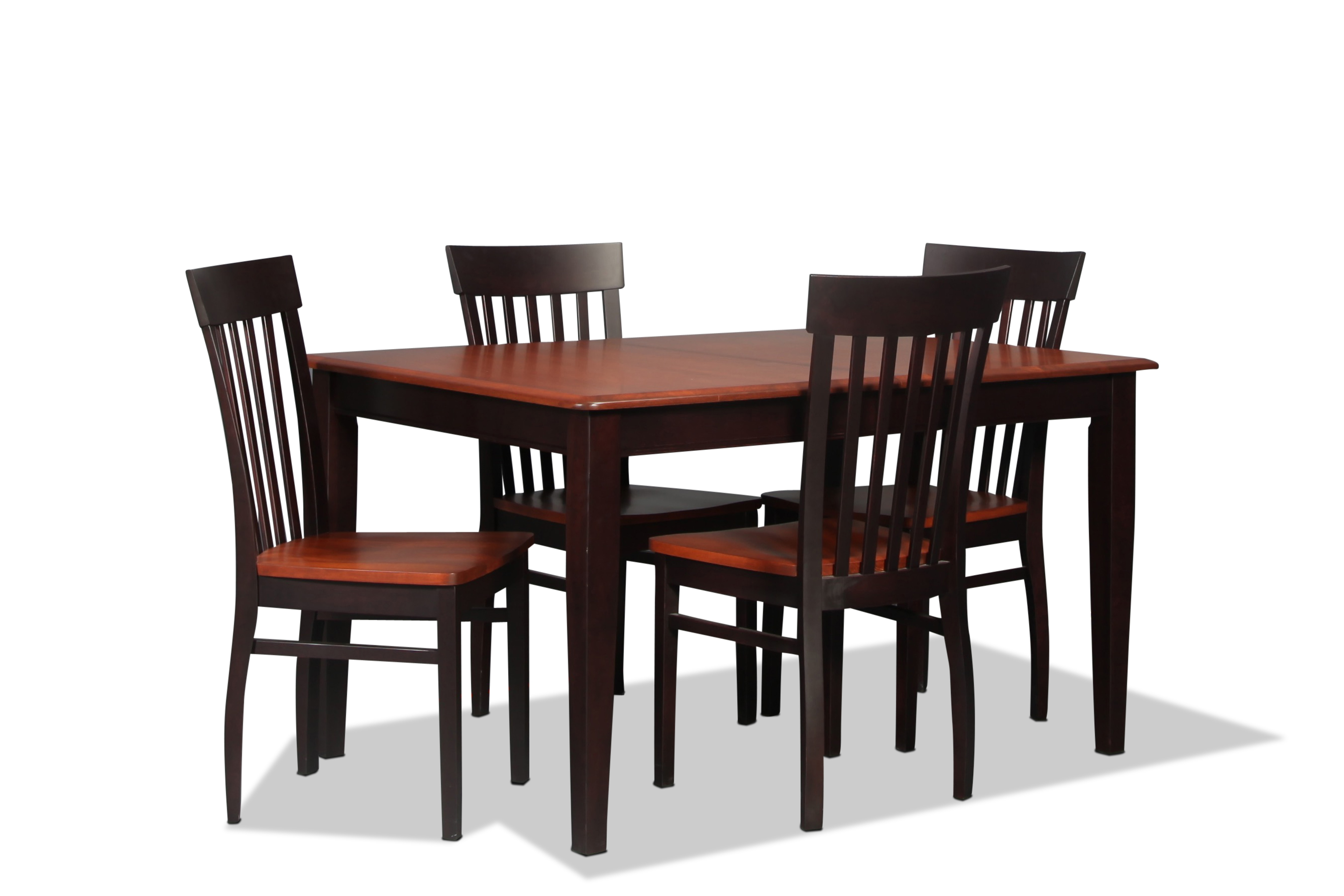 Anniversary Table and 4 Side Chairs - Merlot
