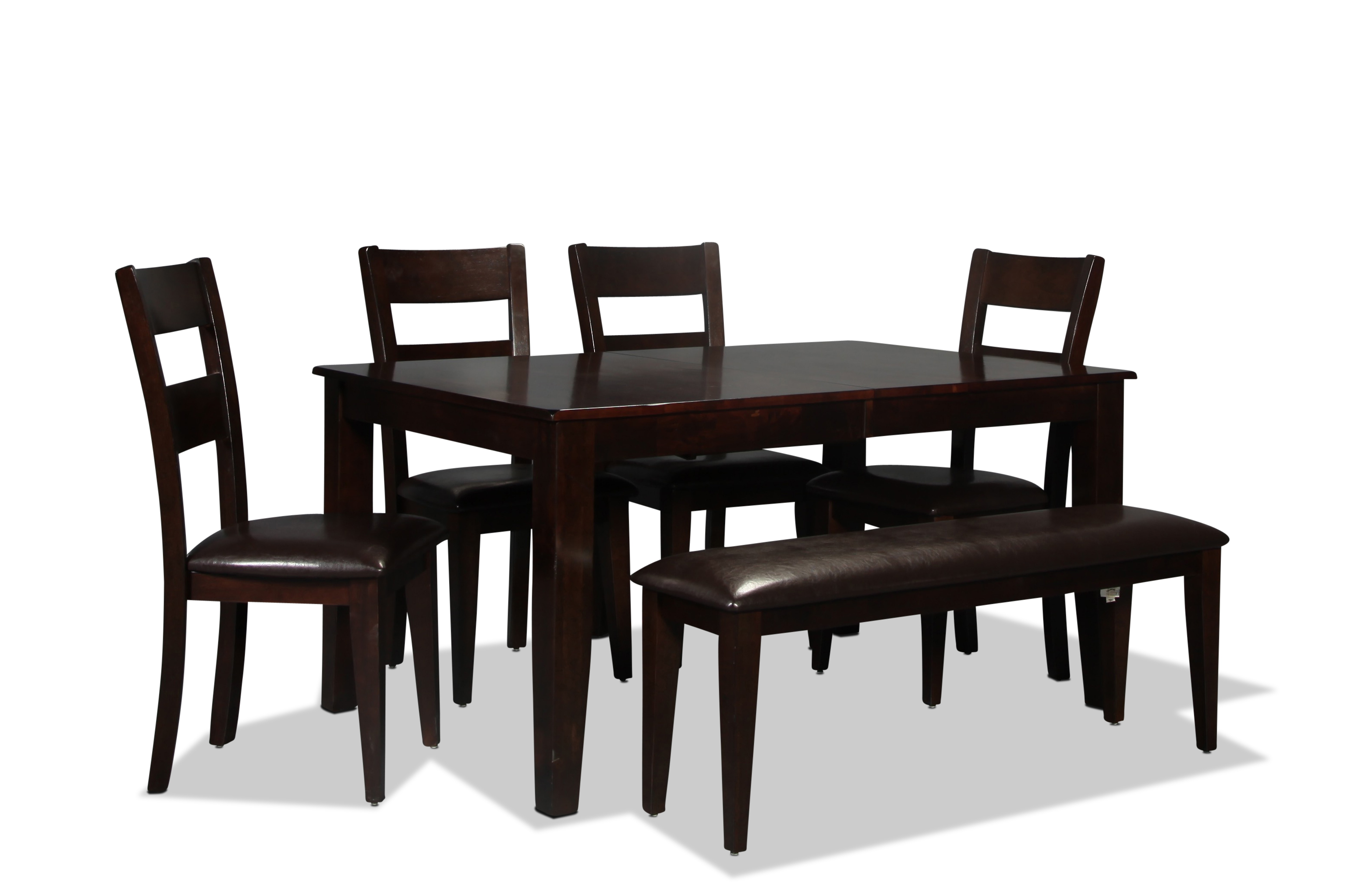 Urban View Table and 4 Side Chairs - Dark Cherry