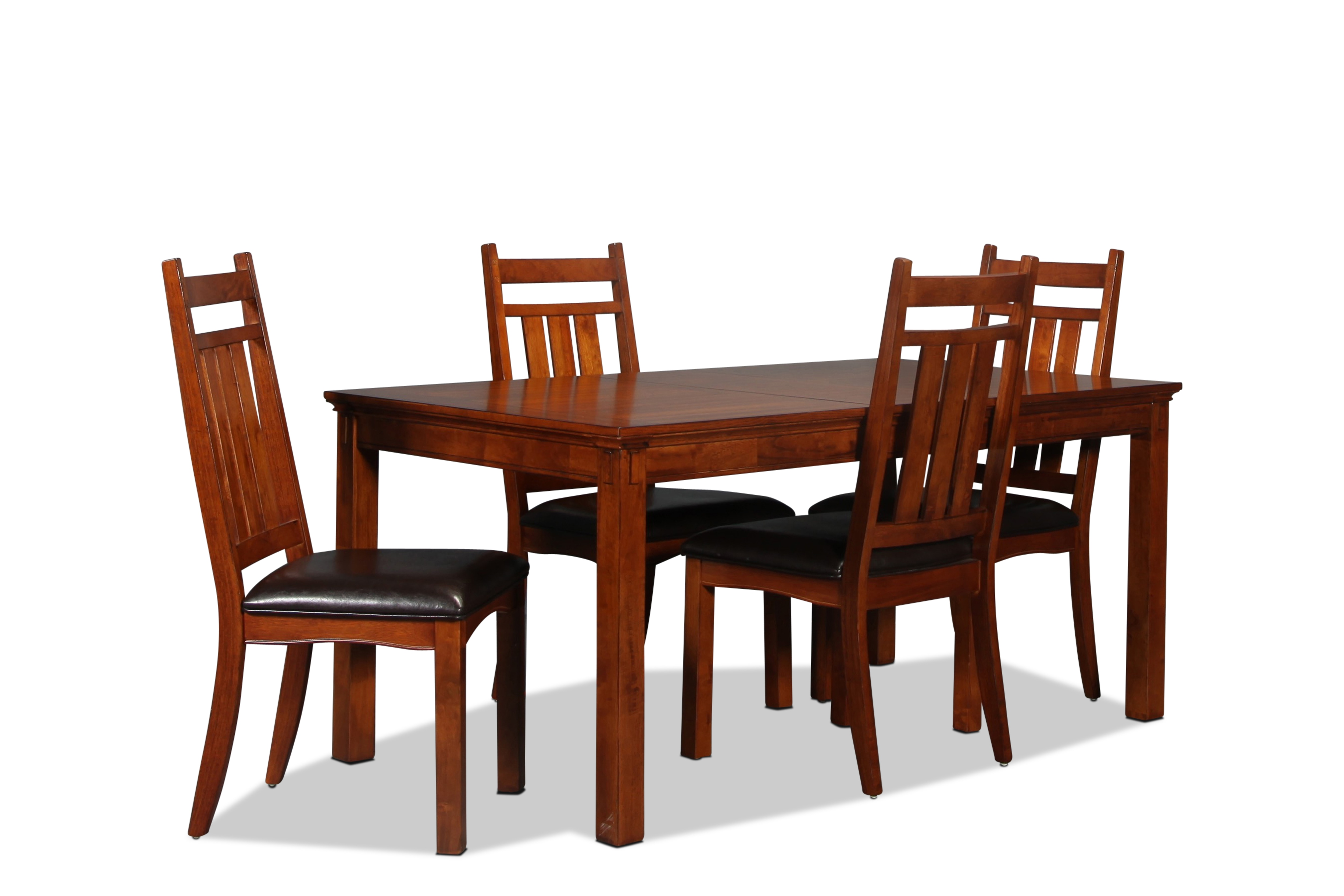 Jasper Table and 4 Side Chairs - Chestnut