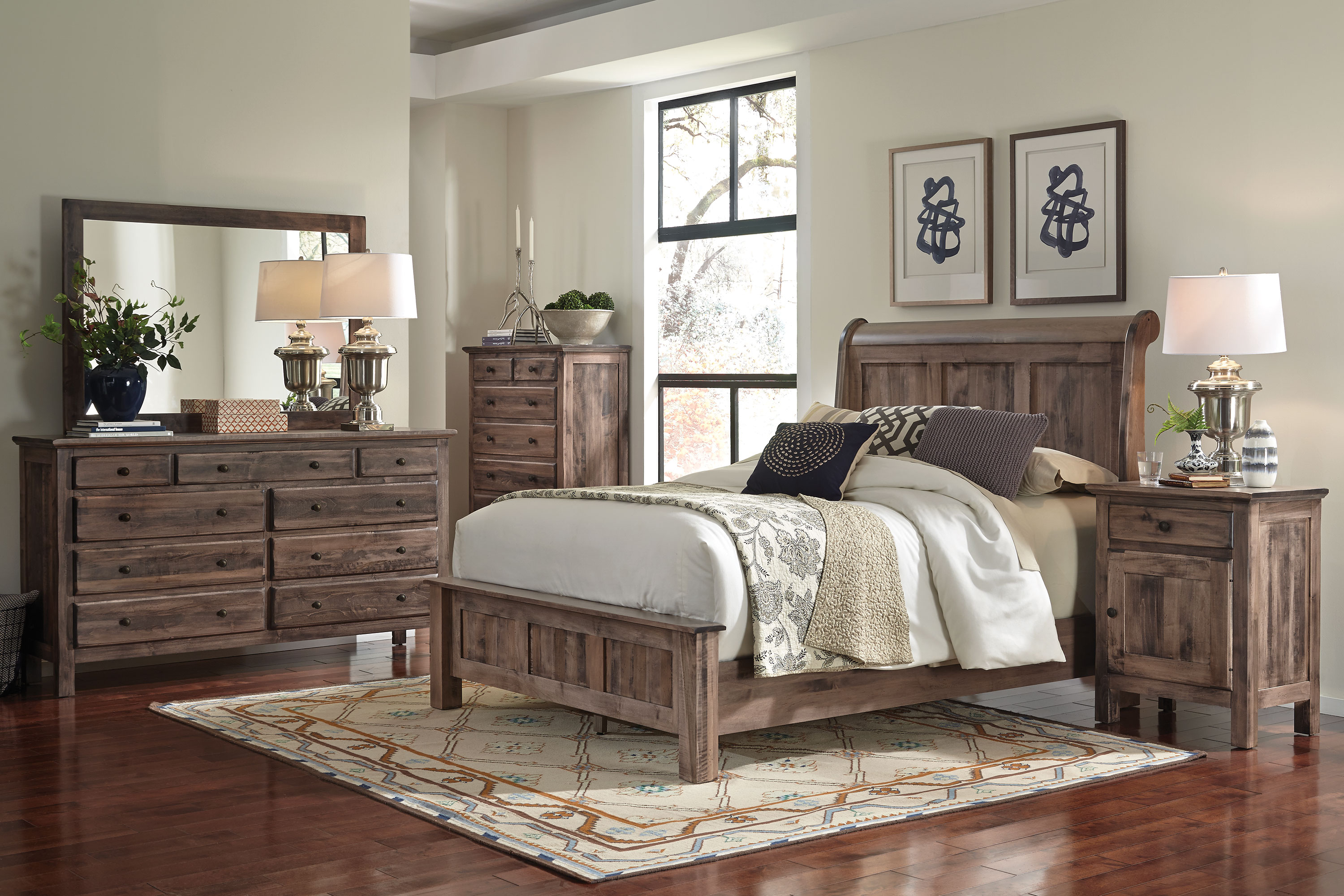 Bedroom Furniture - Lewiston 4 Piece Queen Bedroom