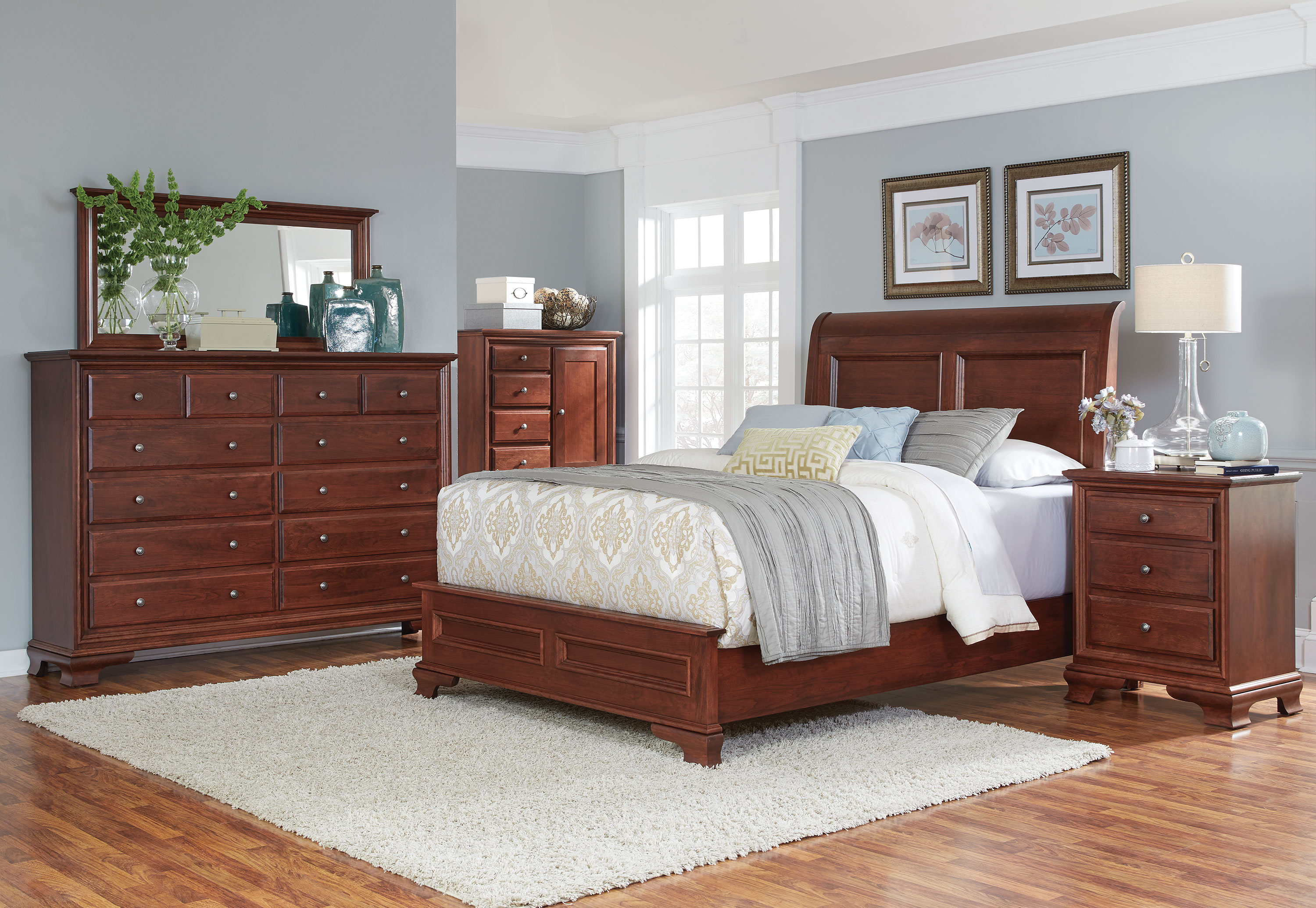Amish Village Amish Classic 4 Piece King Bedroom | Levin ...