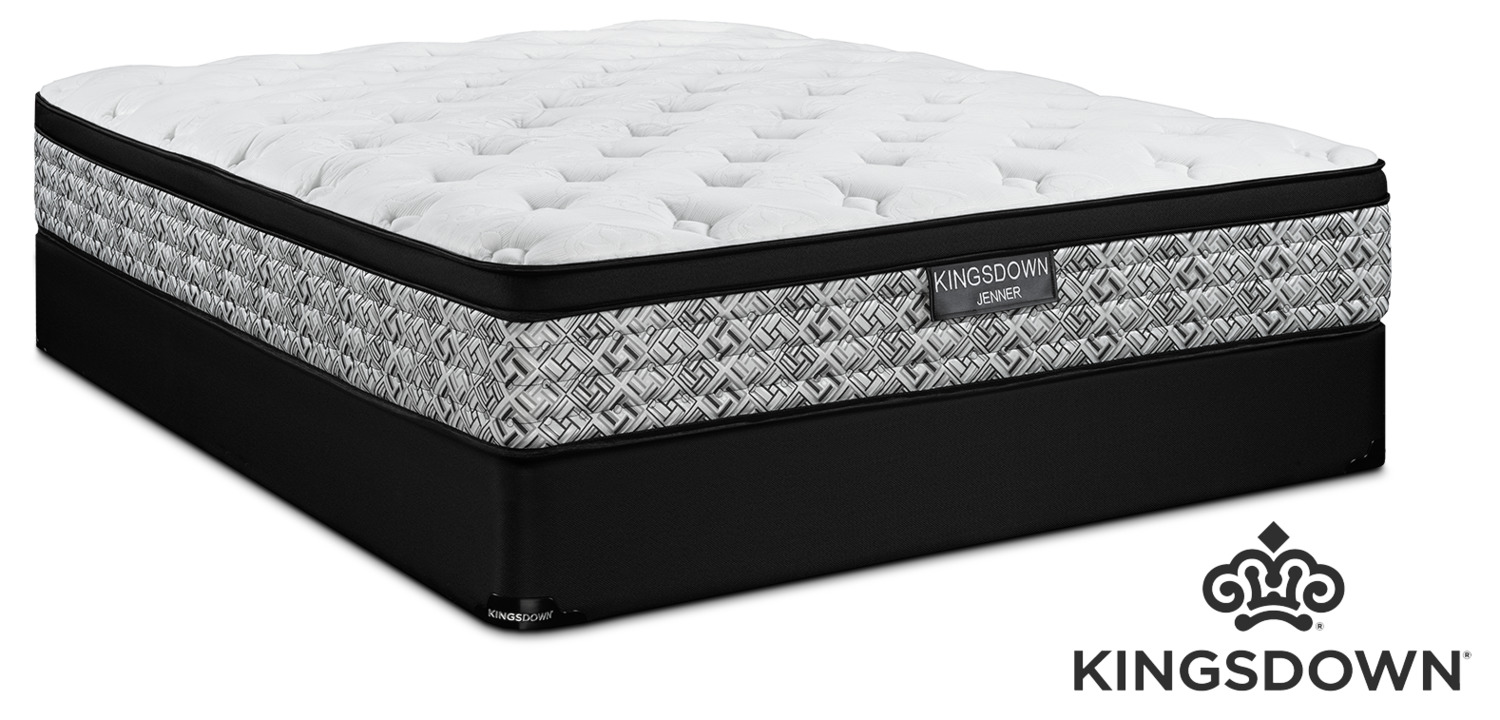 Kingsdown Jenner Cushion Firm Queen Mattress and Boxspring Set