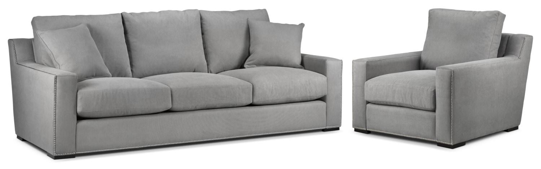 Ethan Sofa and Chair Set - Graphite
