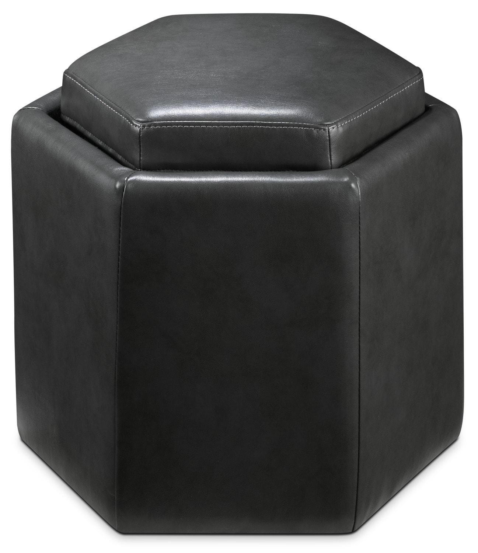 Noelle Storage Ottoman - Grey