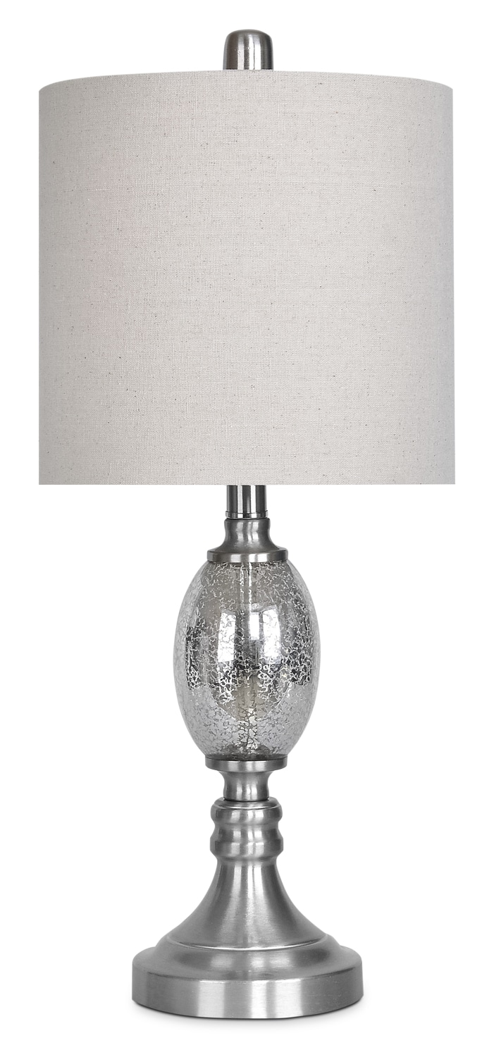 Mercury Glass Brushed Nickel Table Lamp