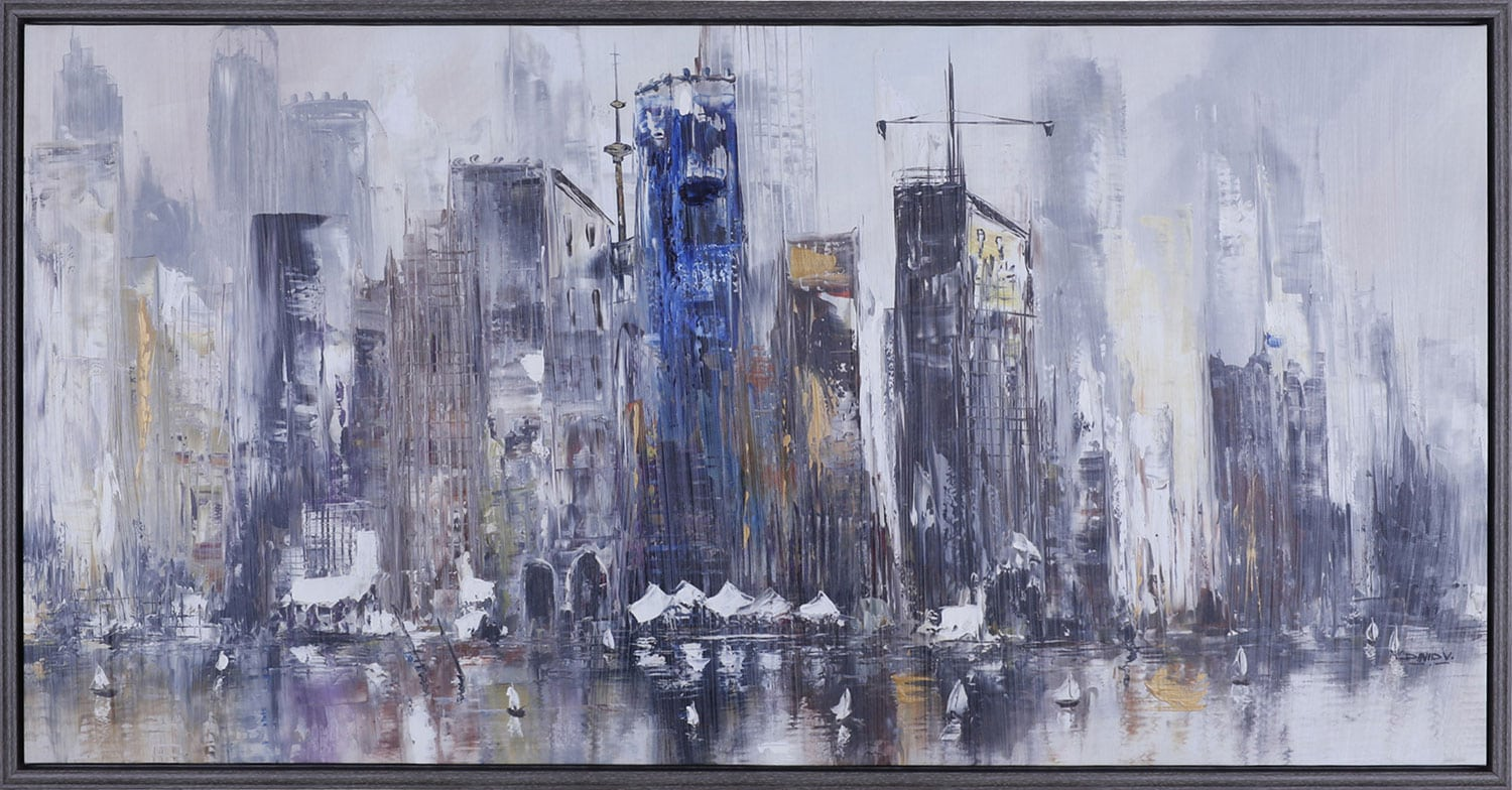 """Accent and Occasional Furniture - City Scape – 50.25"""" x 26.25"""""""