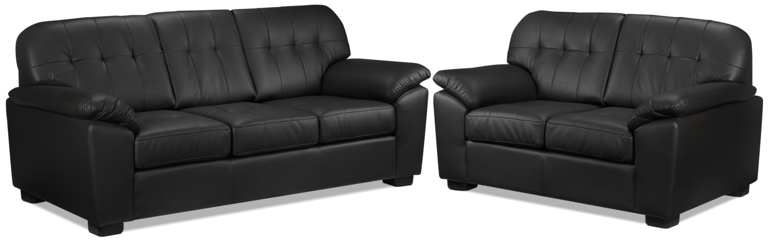 Dalton Sofa and Loveseat Set - Coffee