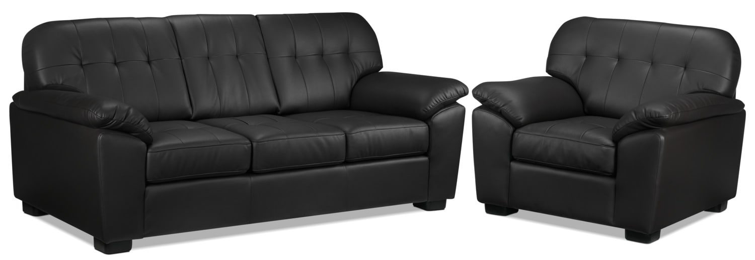 Dalton Sofa and Chair Set - Coffee
