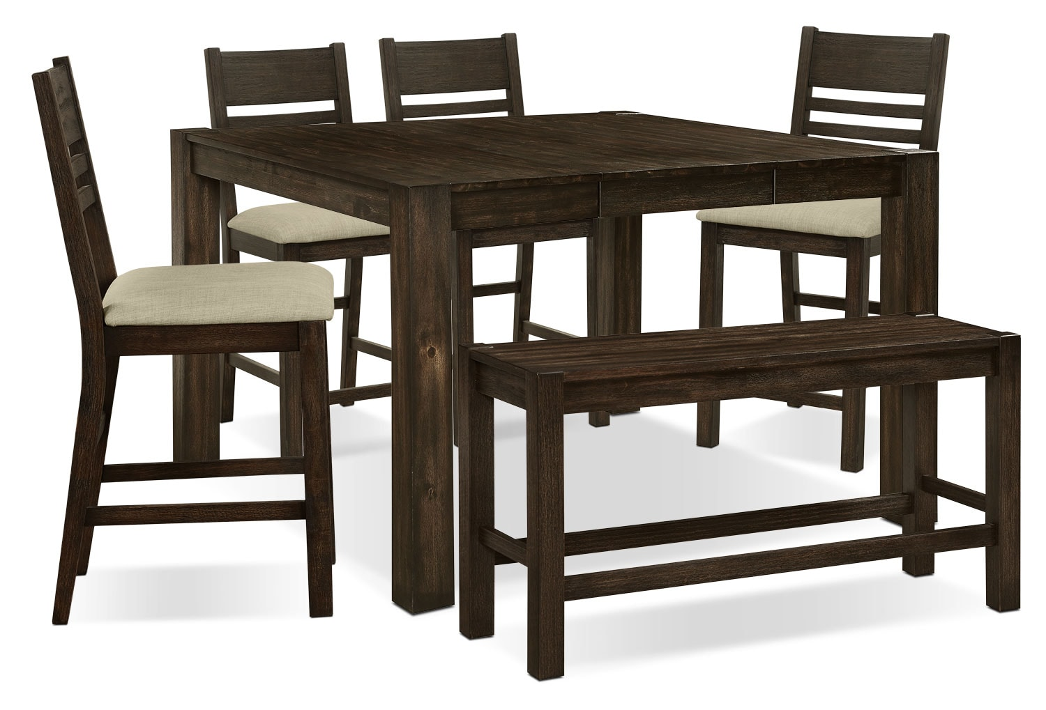 Jade 6-Piece Counter-Height Dining Package