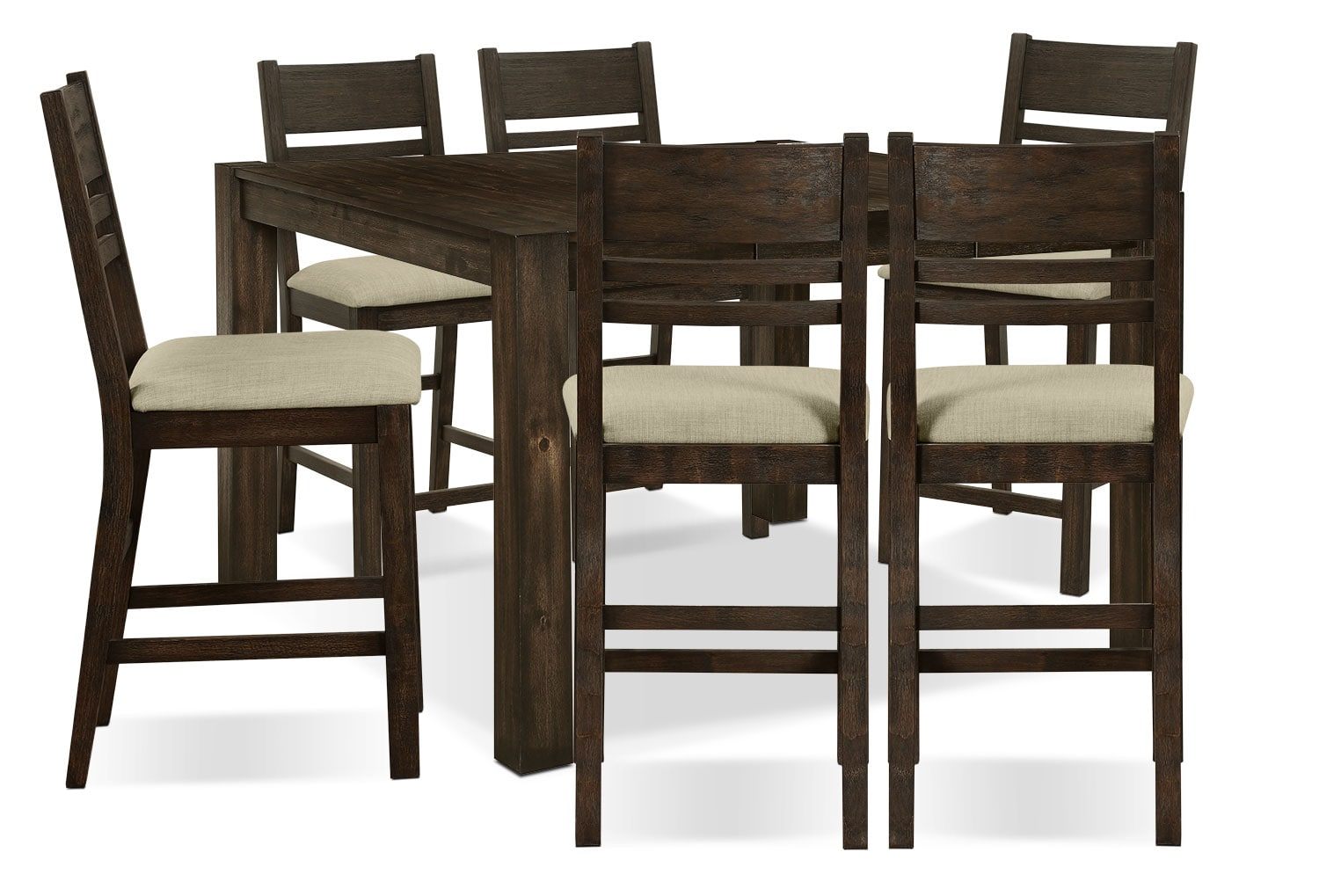Dining Room Furniture - Jade 7-Piece Counter-Height Dining Package