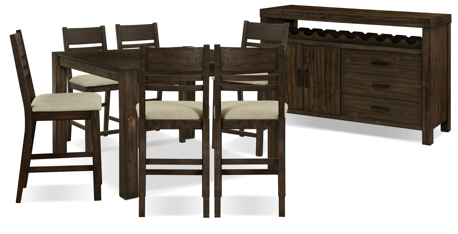 Dining Room Furniture - Jade 8-Piece Counter-Height Dining Package