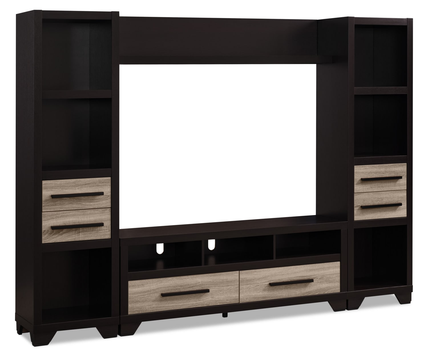 "Glendale 4-Piece Entertainment Centre with 60"" TV Opening – Rustic"