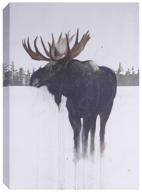 """Golden Moose – 32"""" x 48"""""""